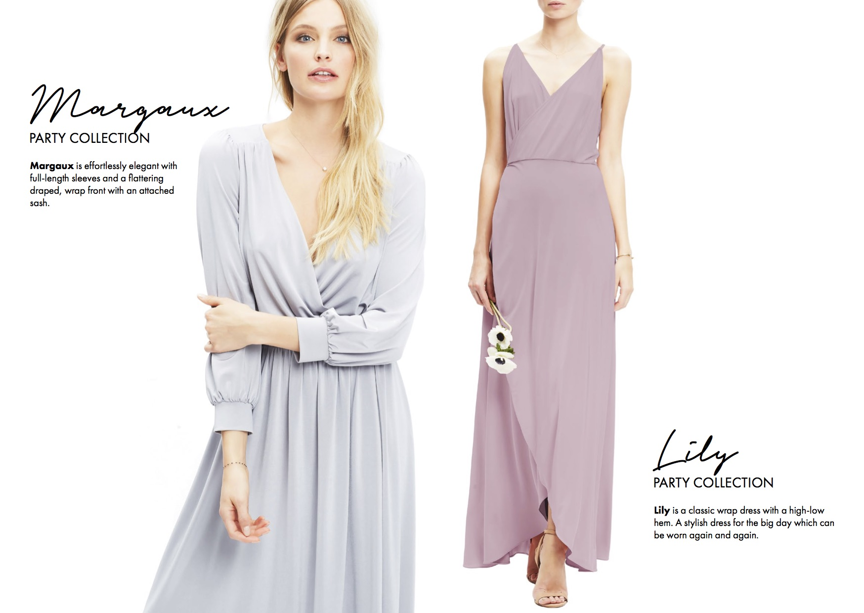 Margaux and Lily | Twobirds bridesmaid | Party Collection | Bridesmaids dresses | Luxury wedding planner Lamare London