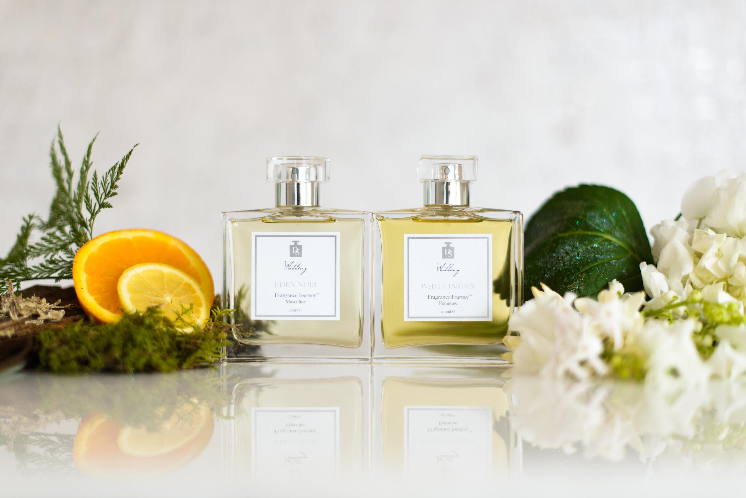 Symphony | White Jardin and Eden Noir | Design in Scent | Lamare London | Luxury Wedding Planner London
