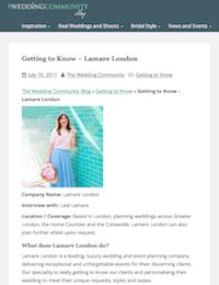 The Wedding Community   Lamare London   Luxury Wedding Planner London