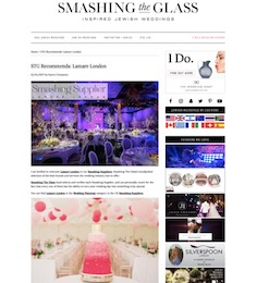 Smashing The Glass Recommended Supplier   Lamare London   Luxury Wedding Planner