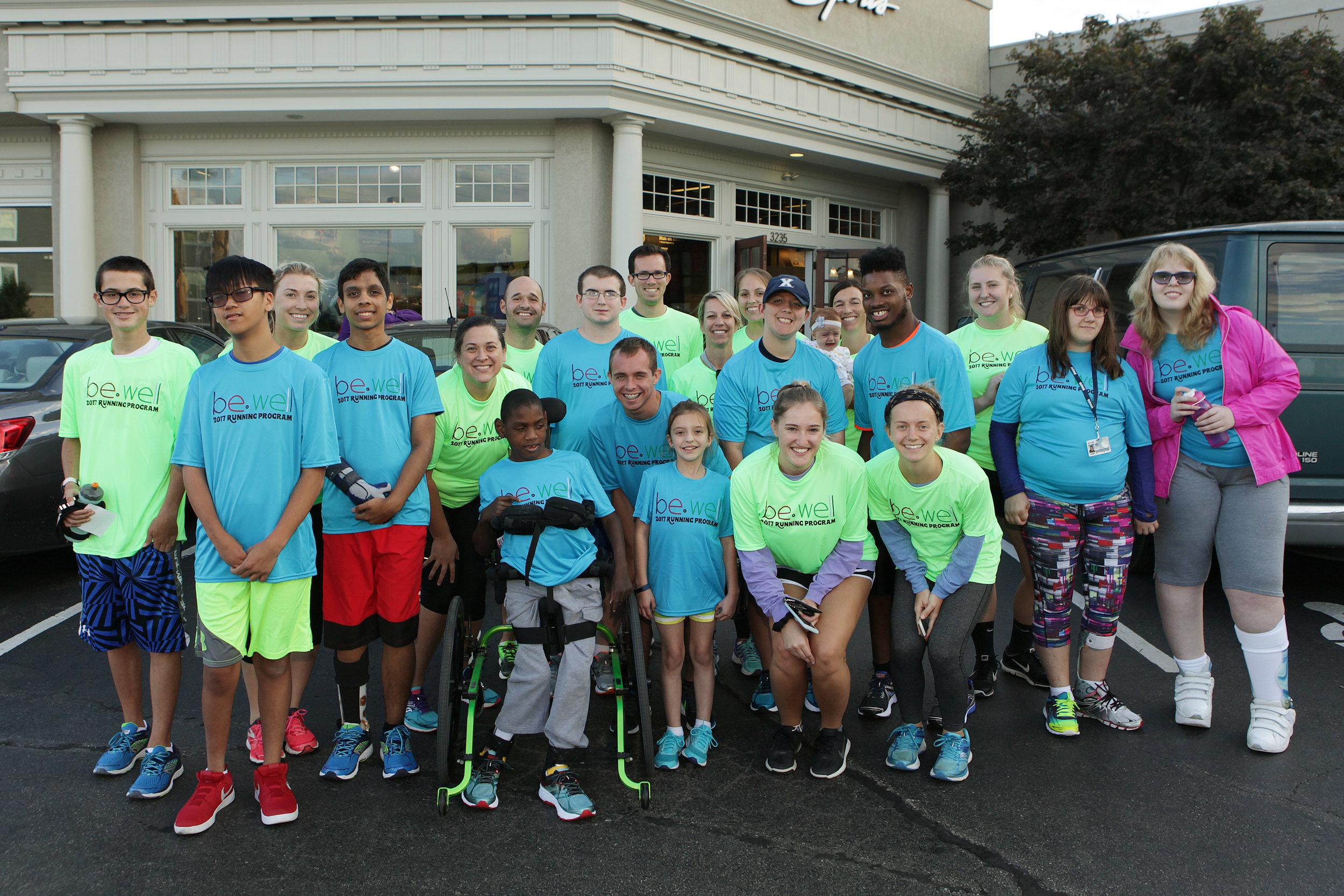 The BeWell runners and their buddies meet every Wednesday and Saturday at Fleet Feet Sports in Oakley.