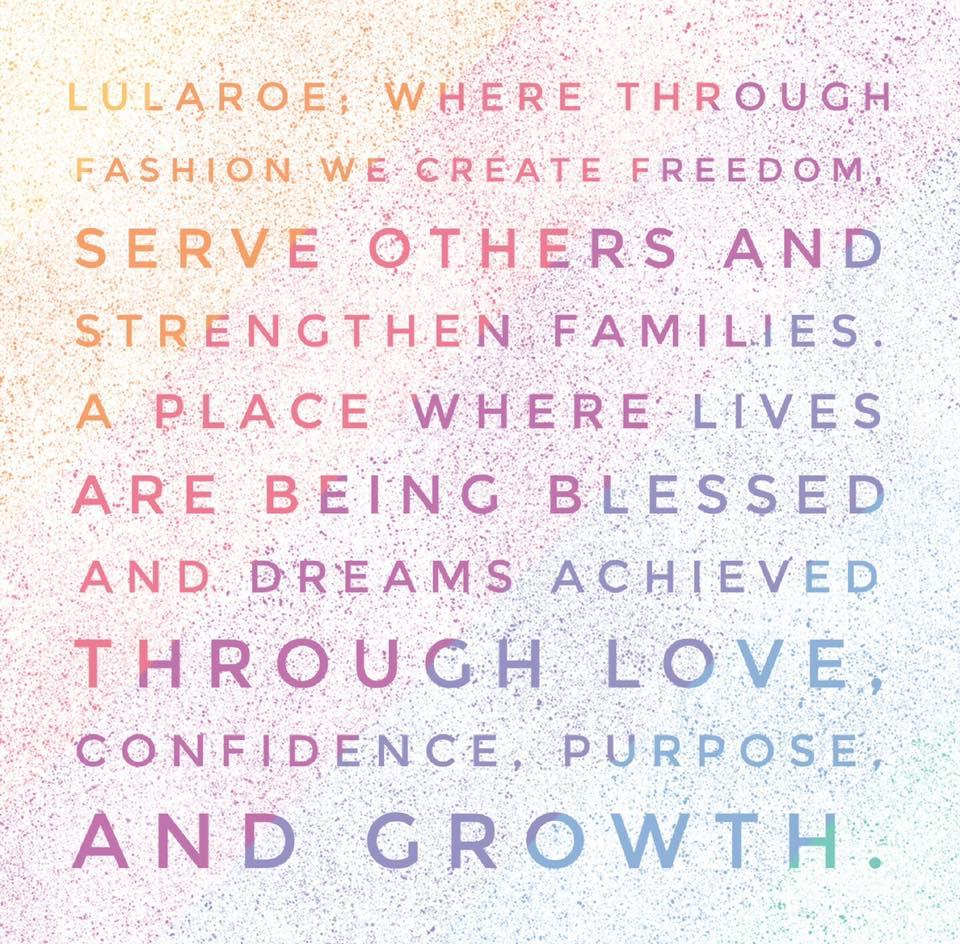 2016 LuLaRoe's Vision Statement.