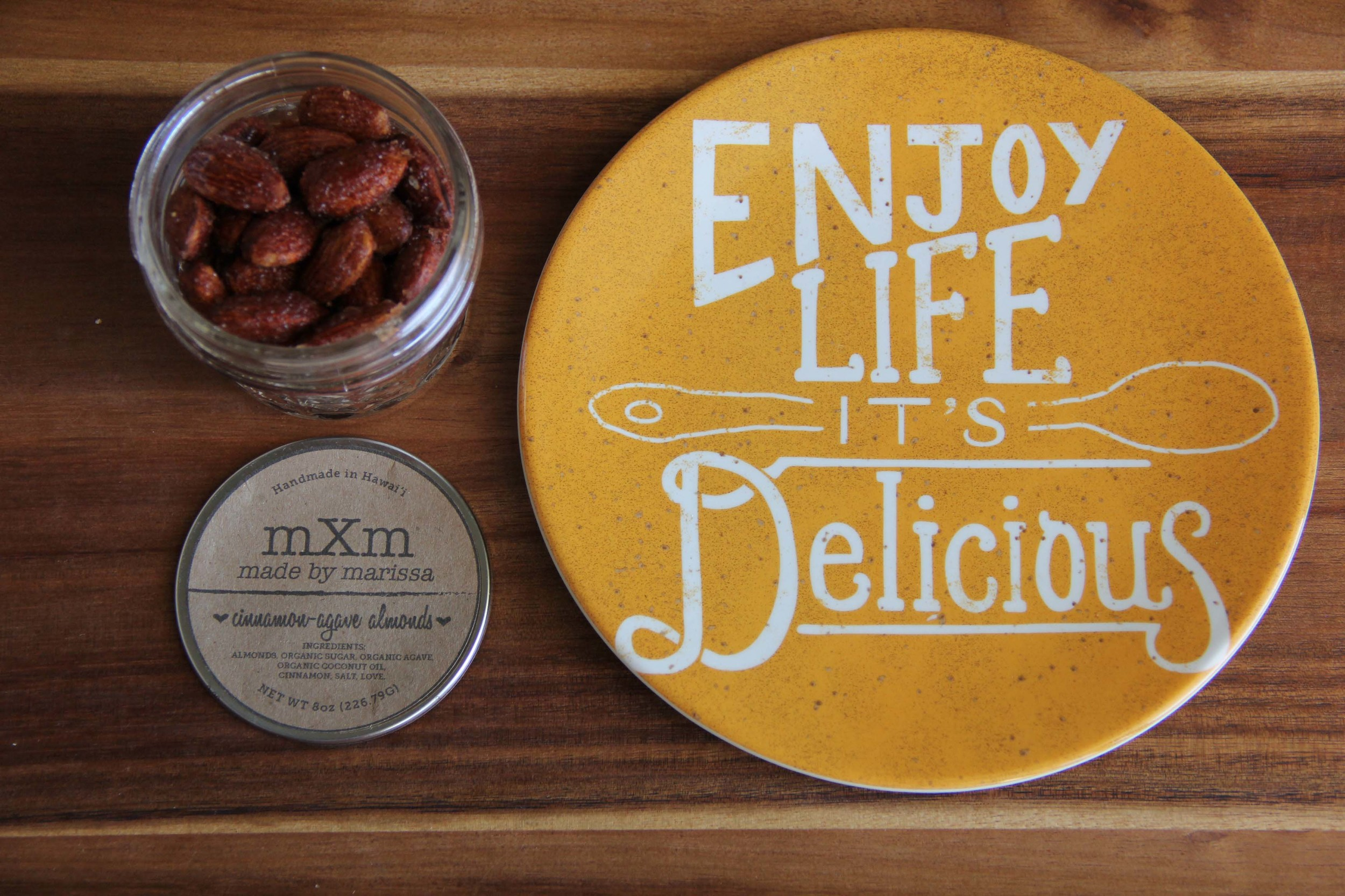Made By Marissa > Handmade in Hawaii > Product > Cinnamon Agave Almonds > Product 1.jpg