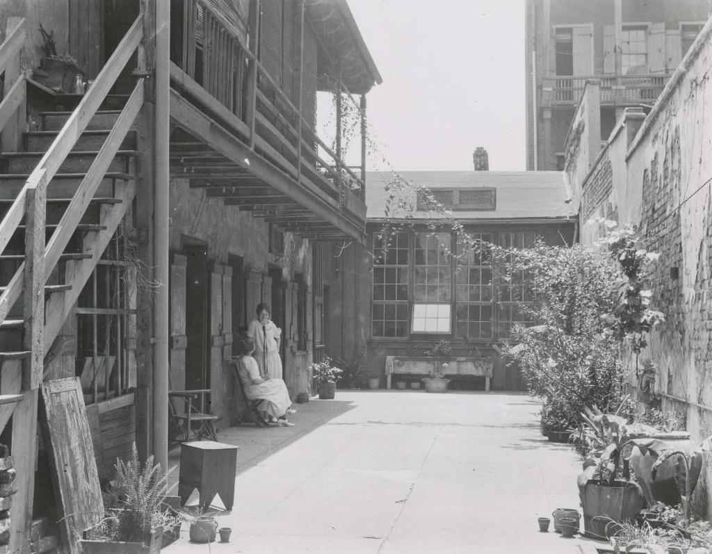 Courtyard at 726 St. Peter, ca. 1920