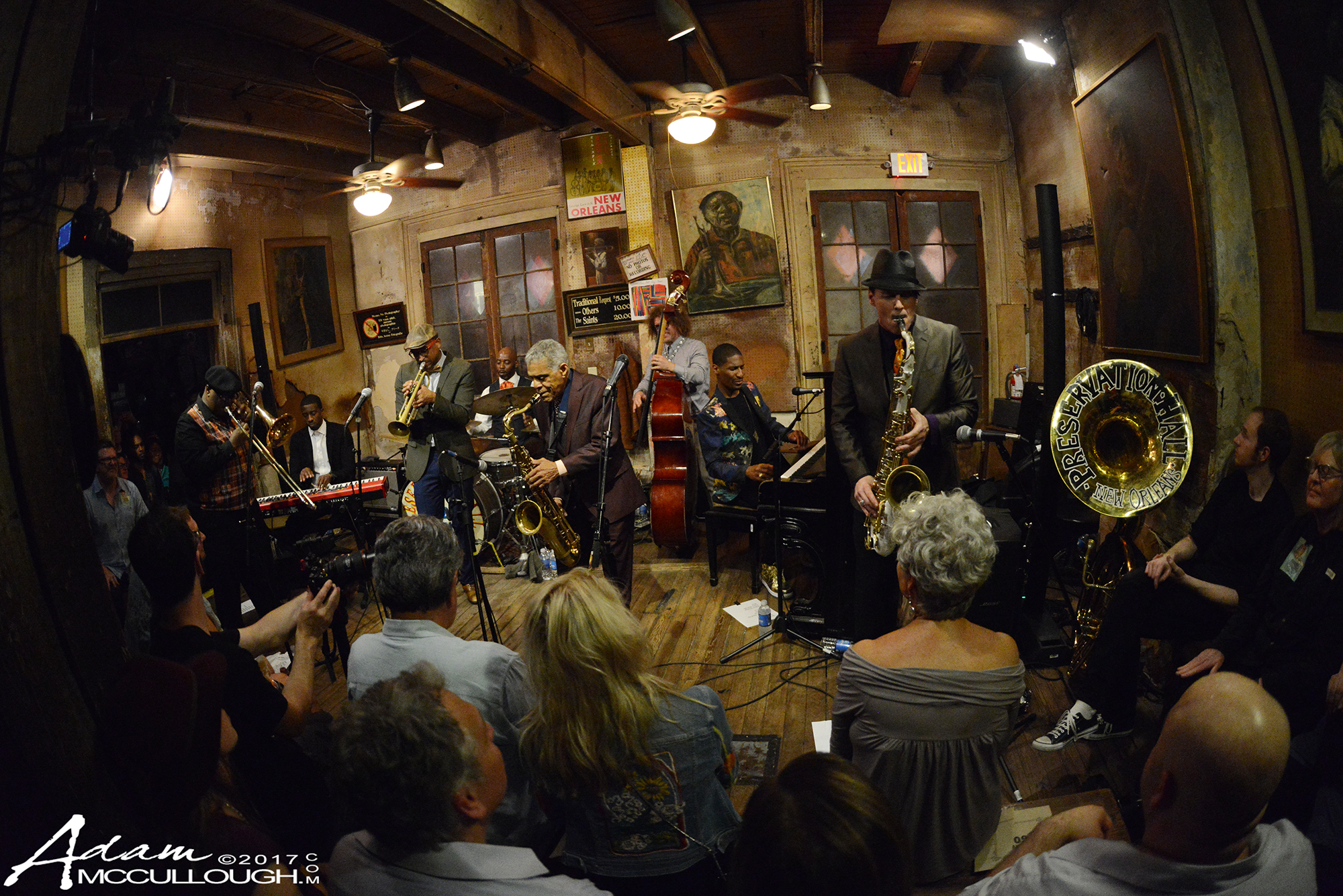 The Preservation Hall Jazz Band & Jon Batiste. Photo courtesy of Adam McCullough