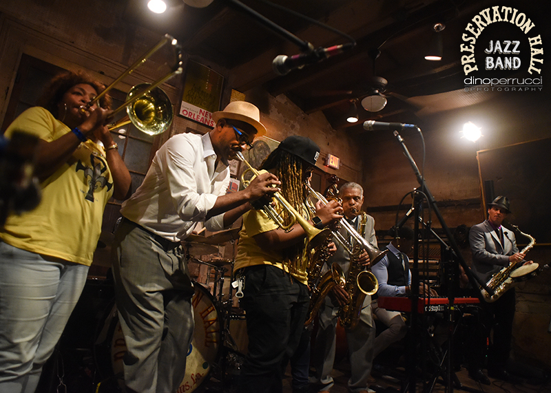 Members of The Preservation Hall Jazz Band & The Original Pinettes Brass Band. Photo courtesy of Dino Perrucci