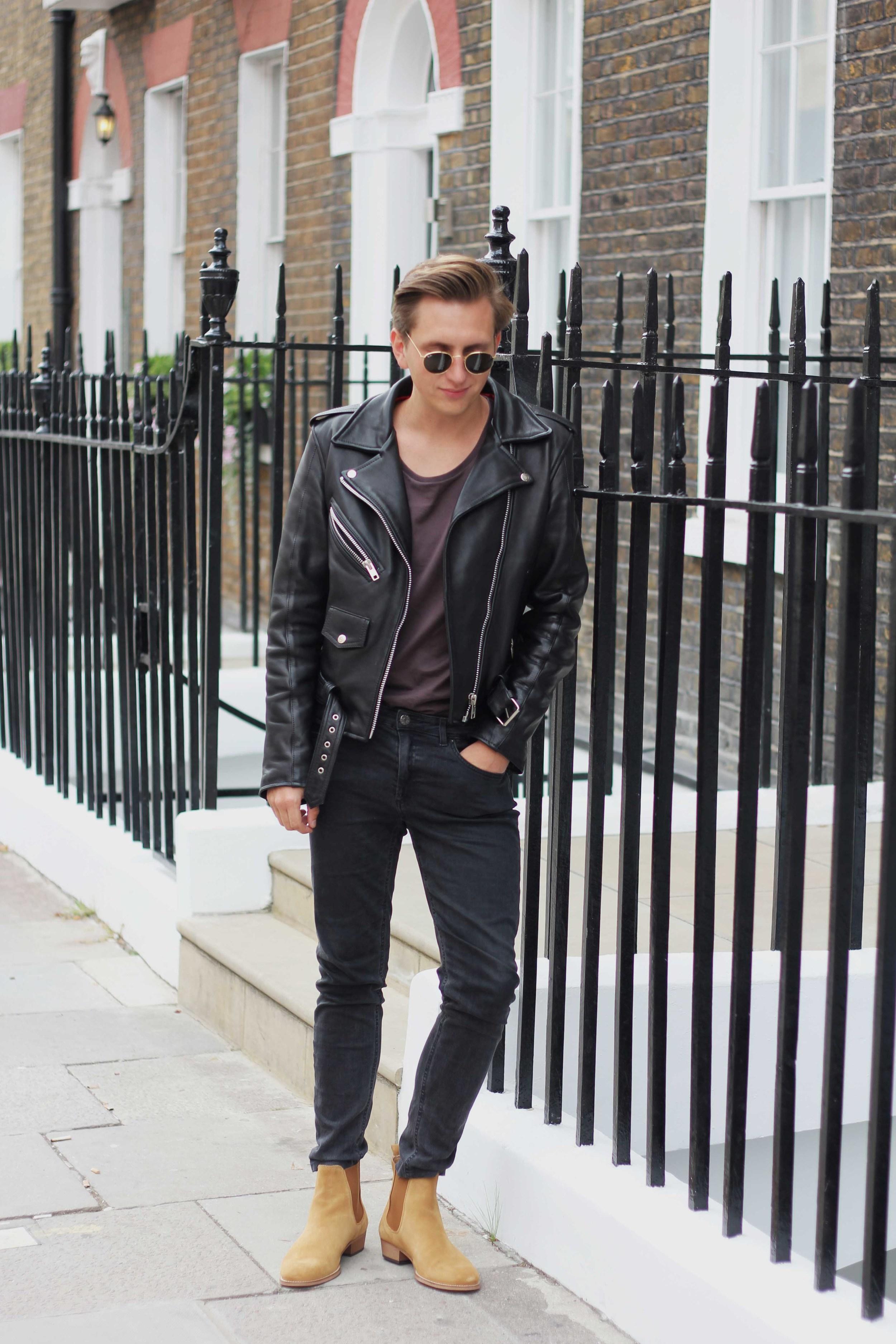 rockandroll_acnestudios_rayban_ootd_menswear_mensfashion_london_marylebone_leatherjacket_biker