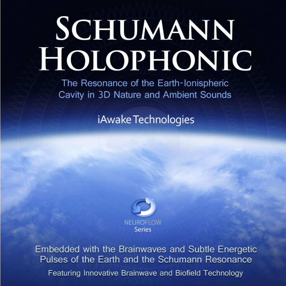Schumann Holophonic contains soundtracks embedded with the brainwaves and subtle energetic pulses of the Earth and the Schumann Resonance. Experience the centering, grounding frequencies of the Earth's resonance.