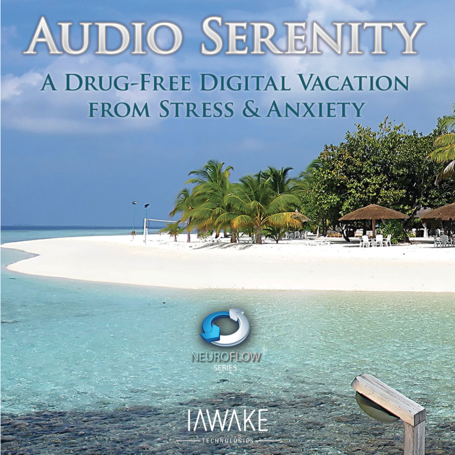 Audio Serenity A Drug-Free Digital Vacation from Stress and Anxiety. Contains the subtle energetic frequencies of endogenous opiates, the brain's natural pain-killers.