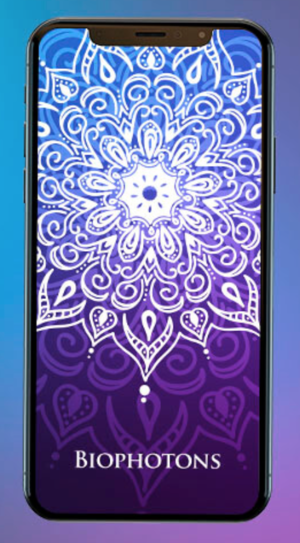 A quantum energy app   to enhance and reinforce your body's biophotonic energy field. The Biophotons mandala works on the energetic level to intensify and fortify the body's natural biophotonic field. It is helpful for protecting the body from EMF stress, enhances energy and vitality, and supports overall health, wellness and immunity. Open the app on your computer, laptop, tablet or phone.