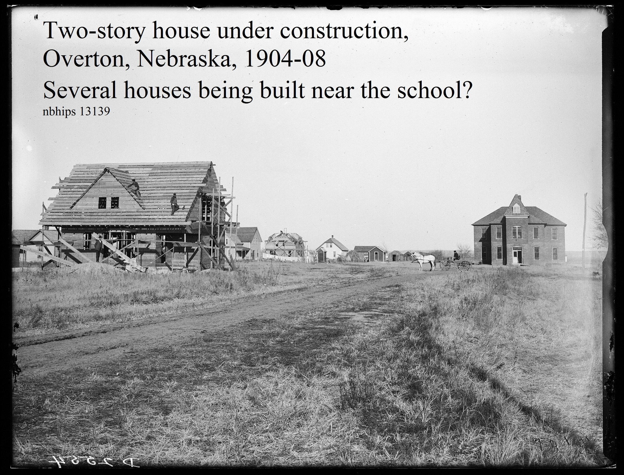Butcher, Dawson County, Overton building houses in town, 1908.jpg