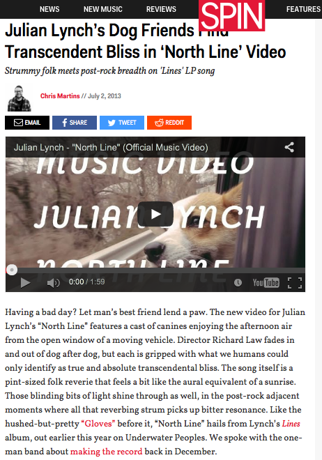 Spin: Julian Lynch's Dog Friends Find Transcendent Bliss in 'North Line' Video
