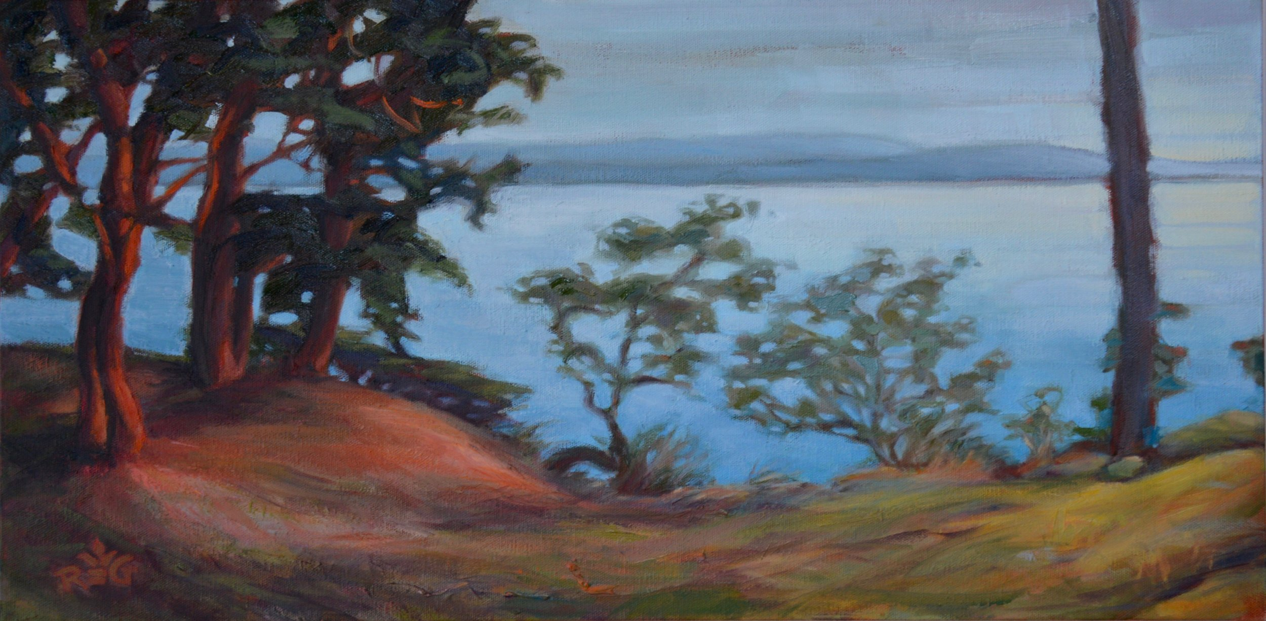 SUNLIT ARBUTUS, Parker Island B.C.