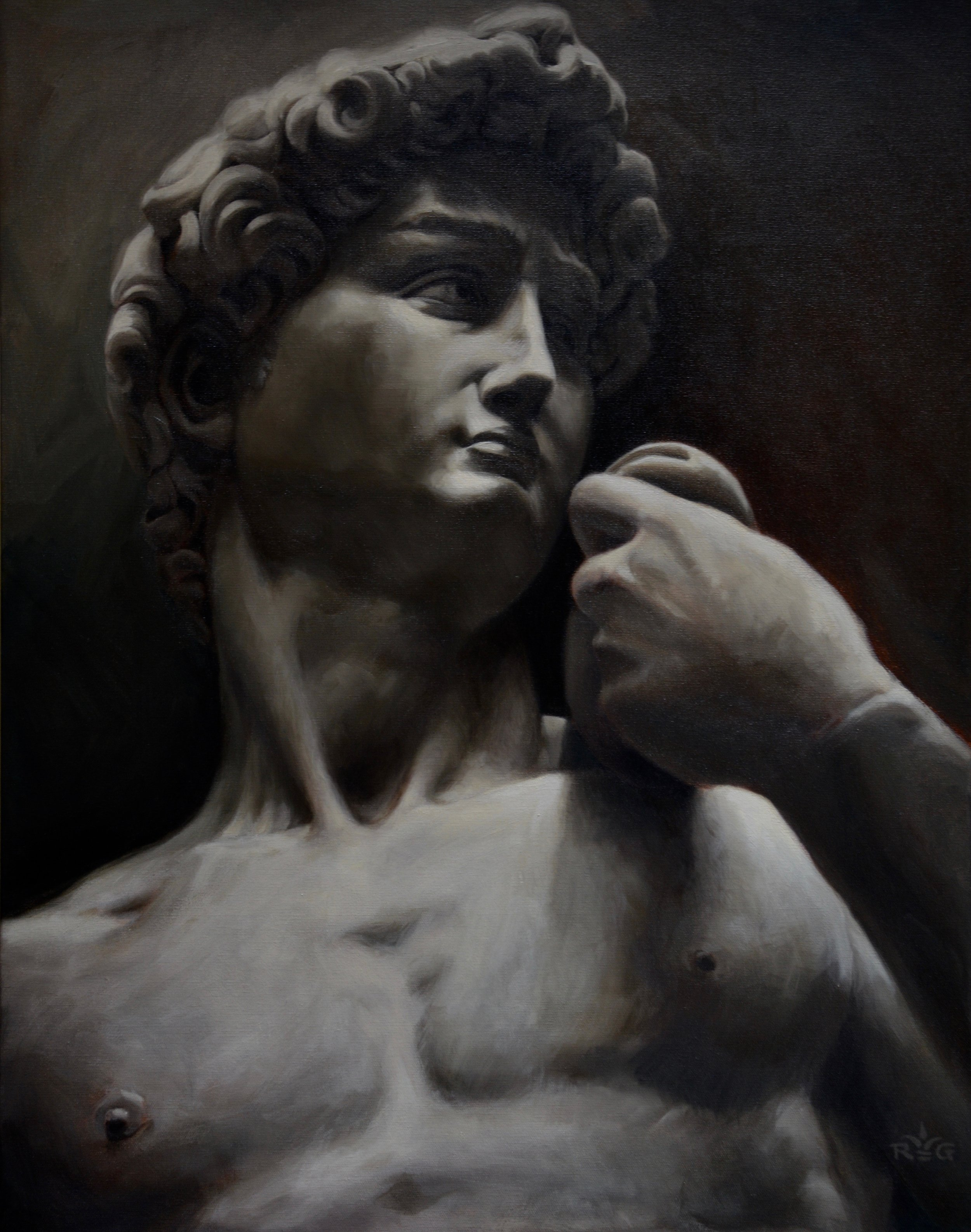A Portrait of Michelangelo's David