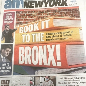 AM New York:  April 12, 2018  Bronx Book Festival latest in borough's renewed push for literary prowess.