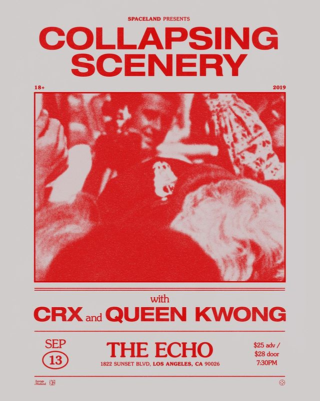 This Friday, 9/13, at @theechola in Los Angeles supporting @crxmusic ! See you there