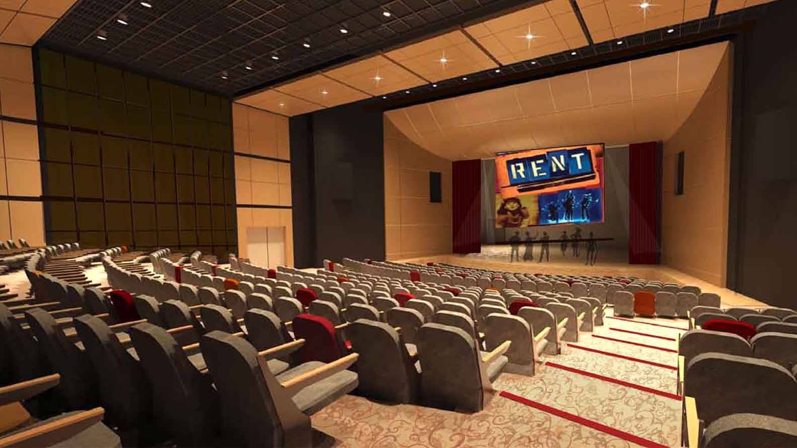 Artist's Rendering of Castaic High Performing Arts Center