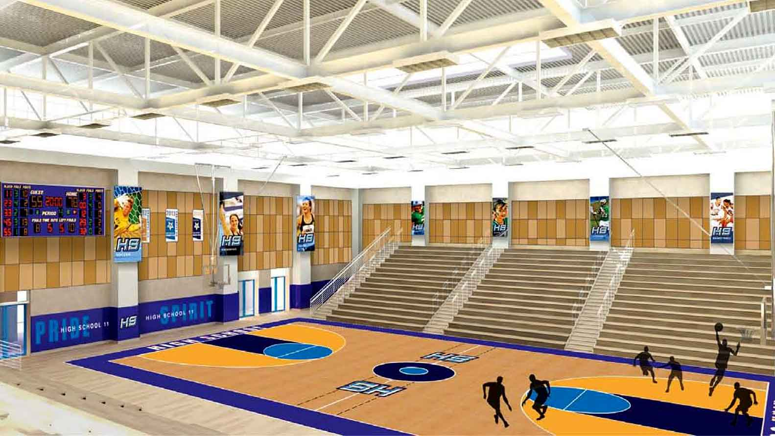 Artist's Rendering of Castaic High Gymnasium.