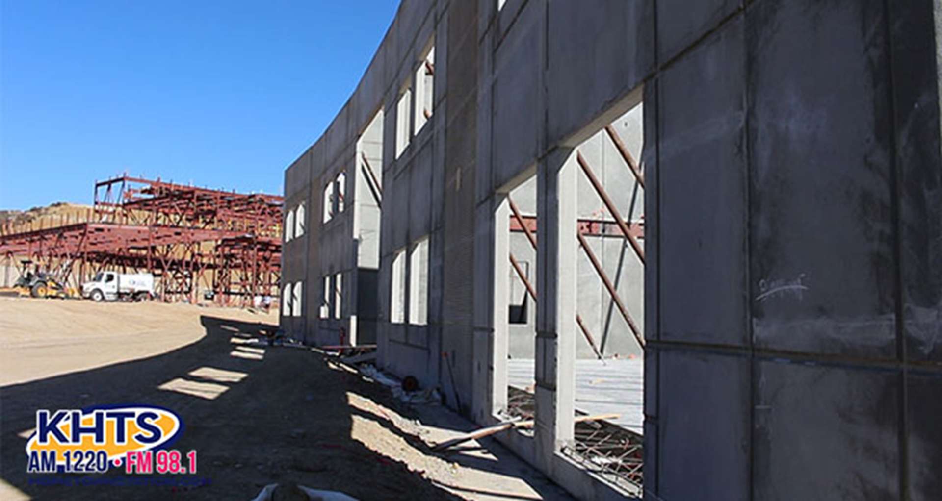The new Castaic High School under construction.