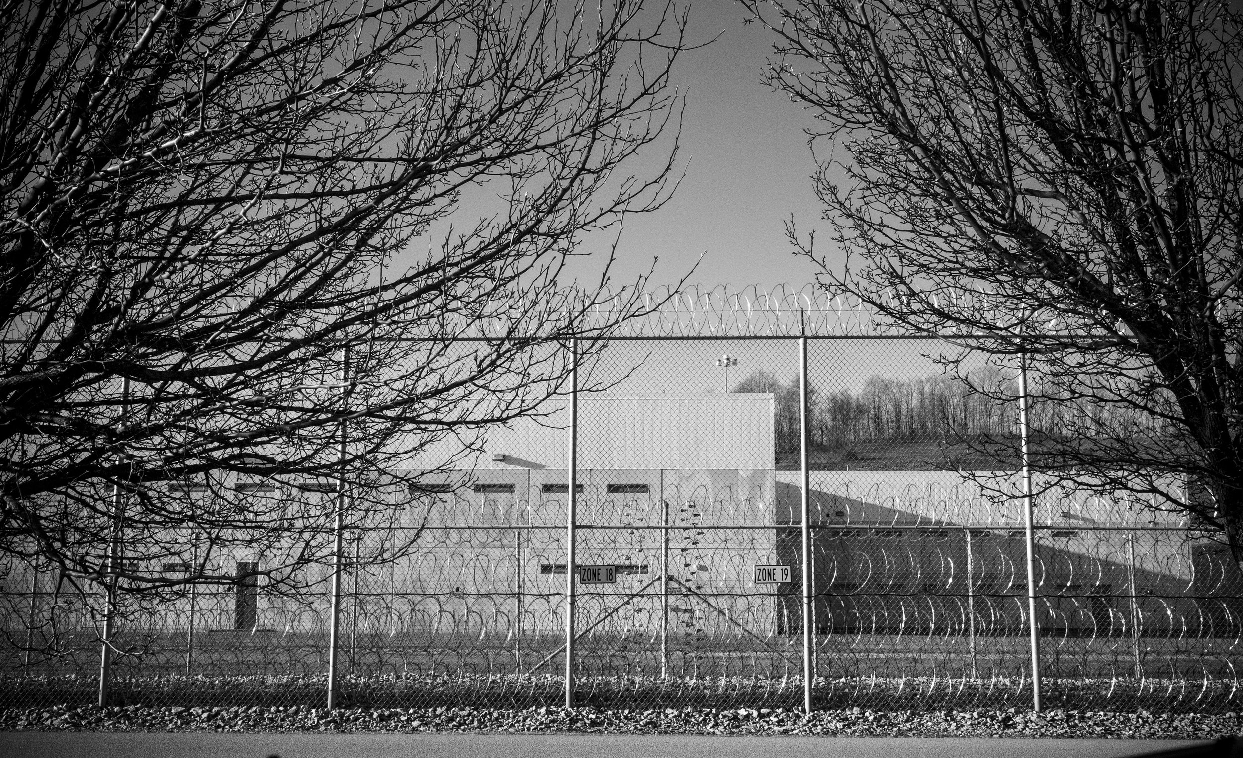 Wallen Ridge State Prison fence.