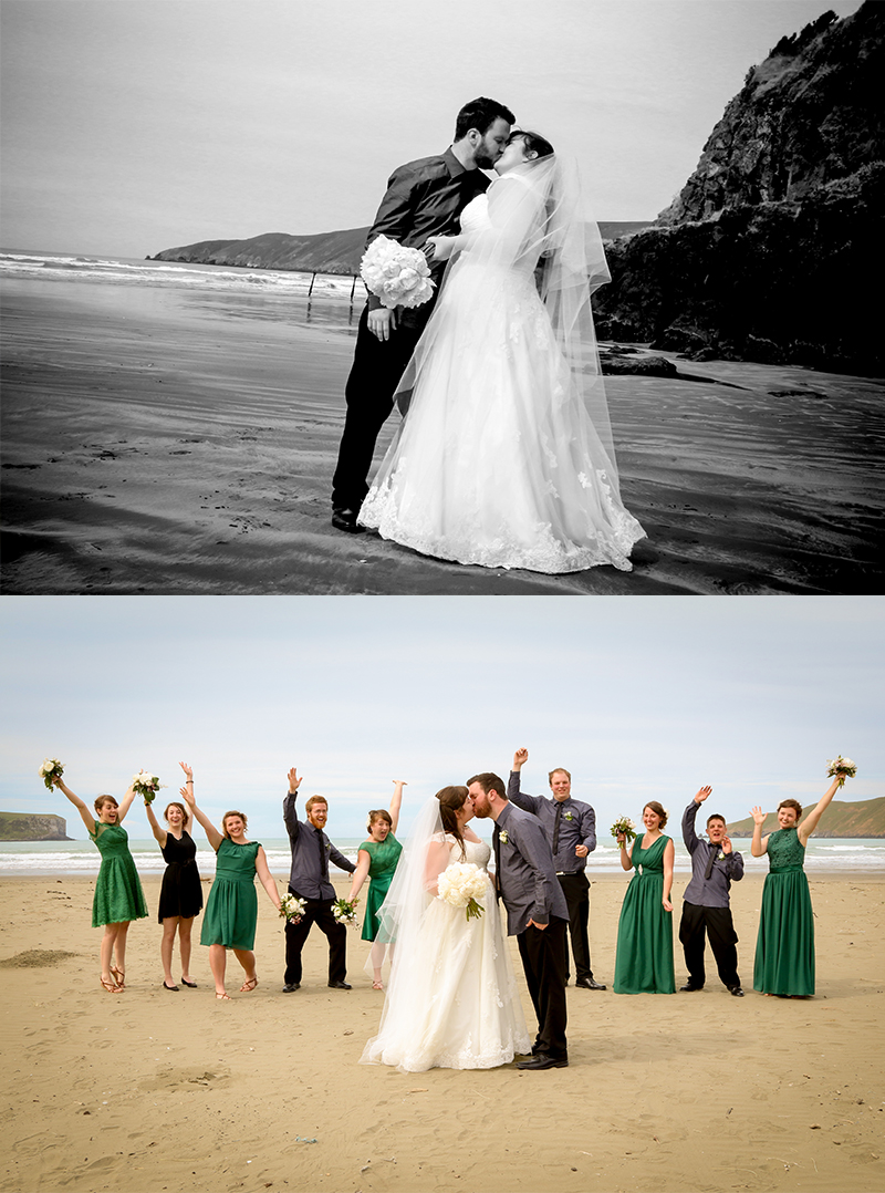 These are the first two pictures we saw on Facebook while on honeymoon. We loved them!  Images by Kim Wheeler