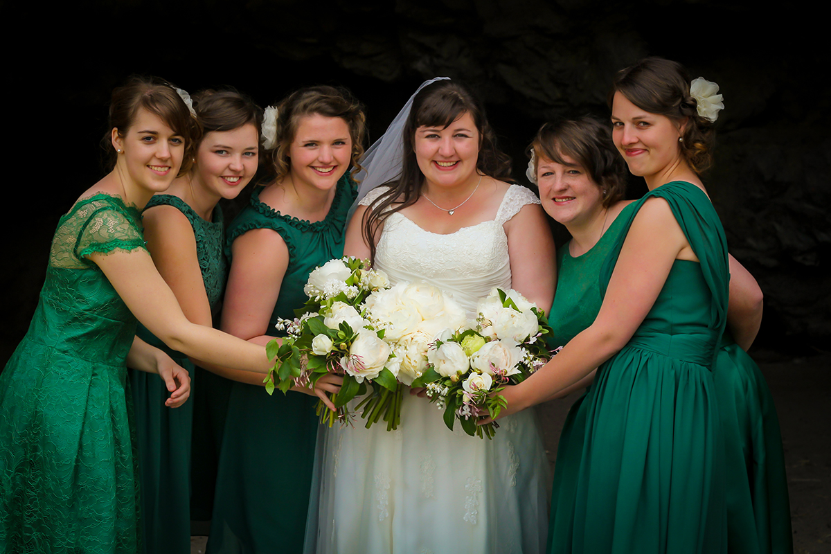 My gals in their gorgeous green!   Photo by Kim Wheeler Photography