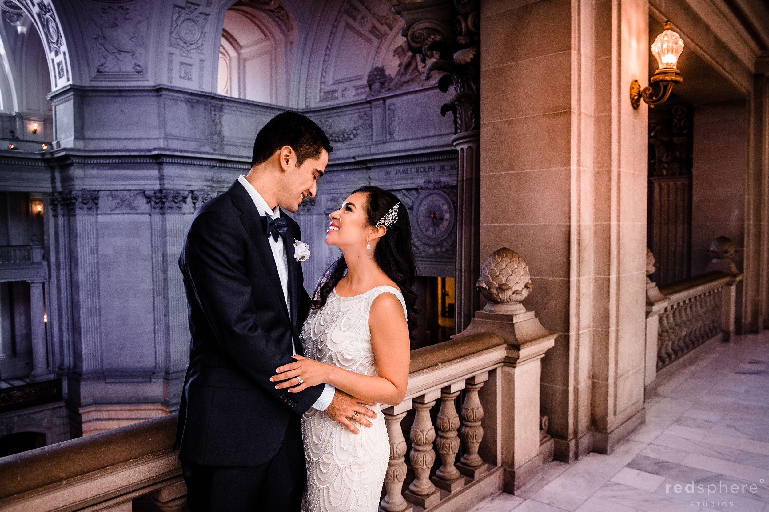 Bride and Groom Share a Special Moment at San Francisco City Hall Wedding