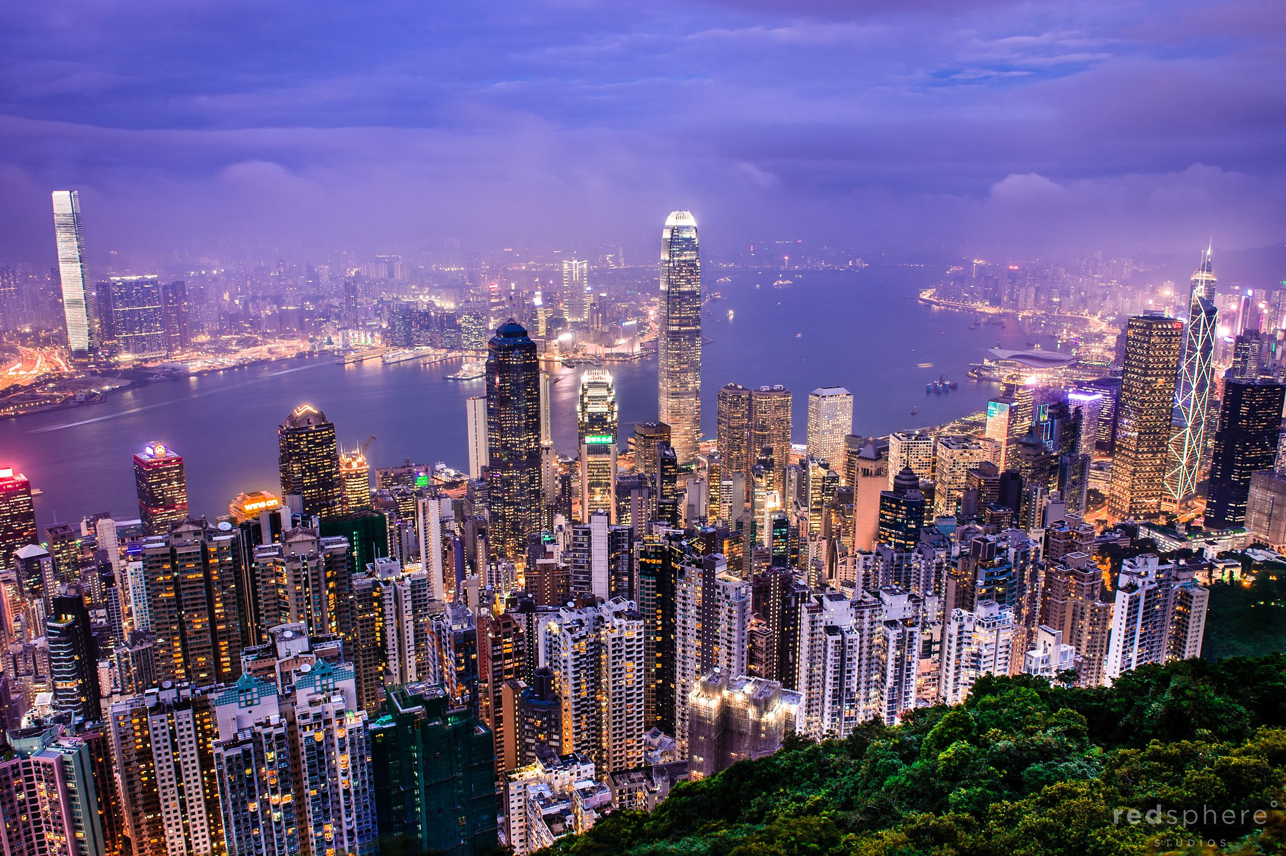 Nights at Victoria Peak Hong Kong, Cityscape Hong Kong City