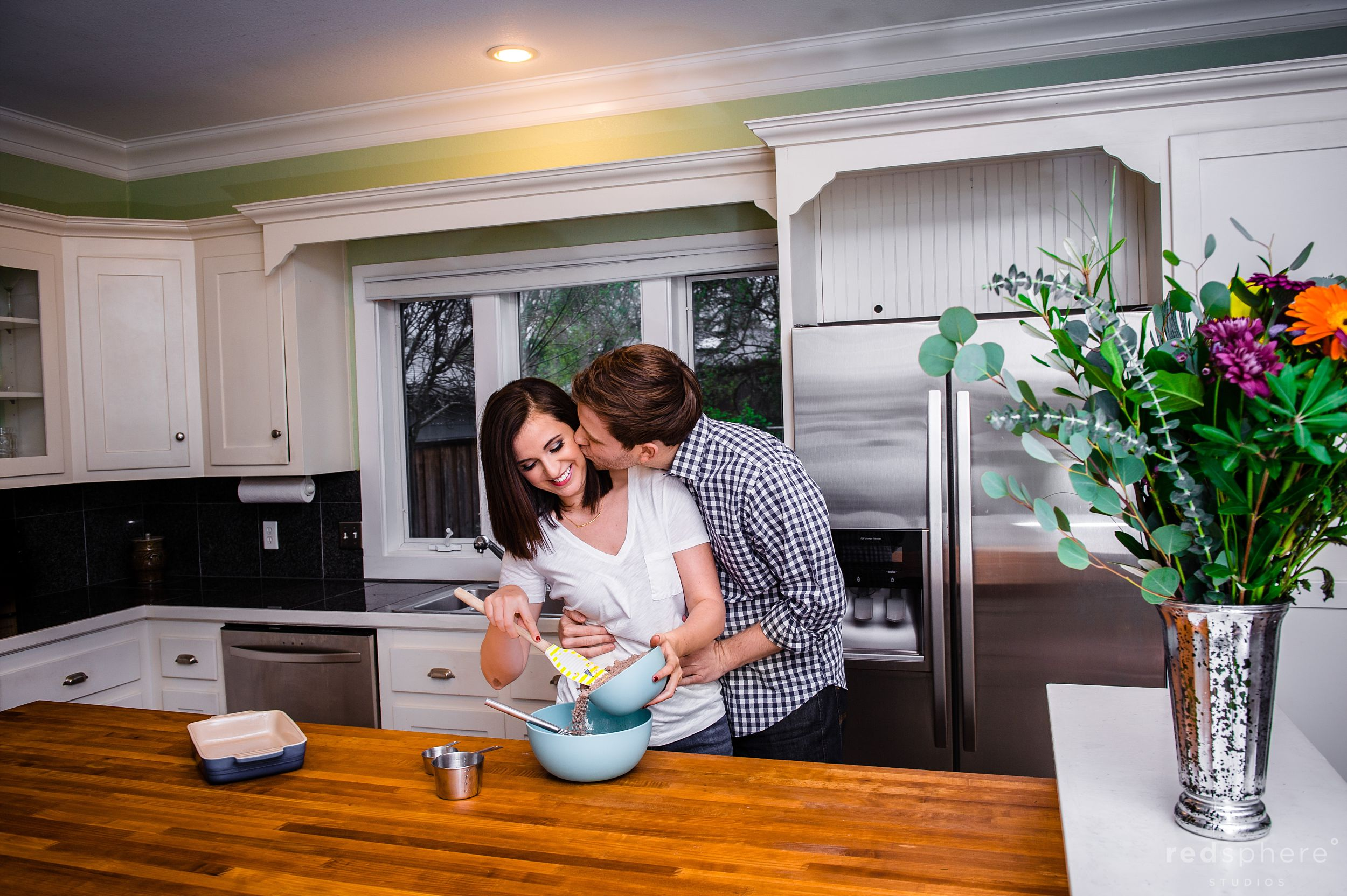 Couple Cooking at Home Engagement San Francisco