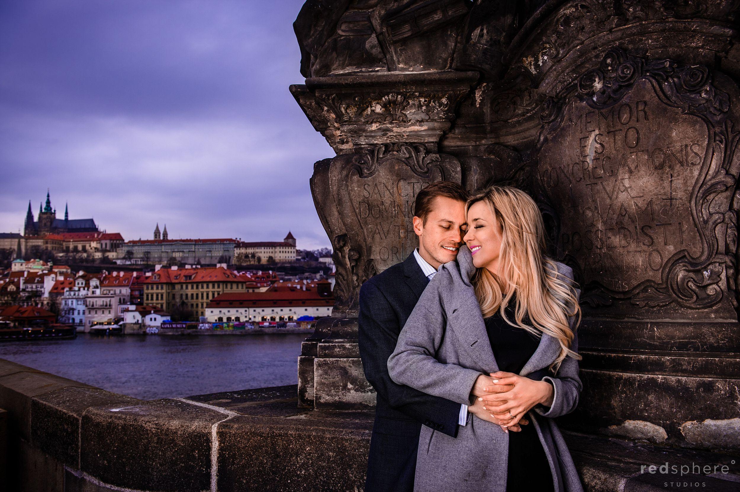 Engagement at Prague's Famous Charles Bridge