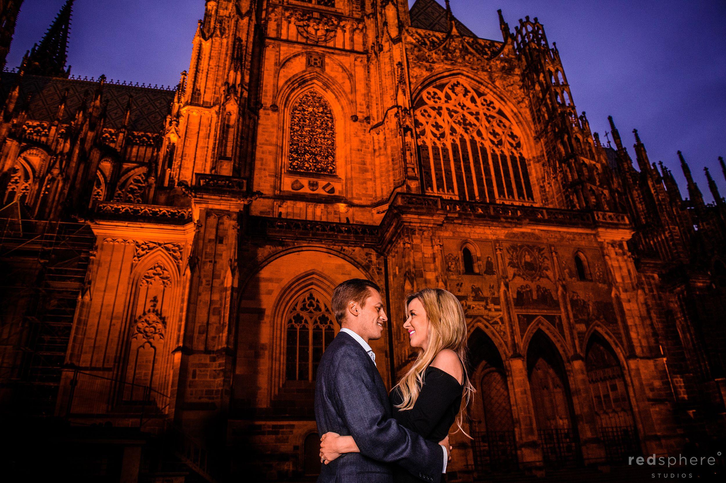 Beautiful Engagement Shared at Prague Castle, Prague