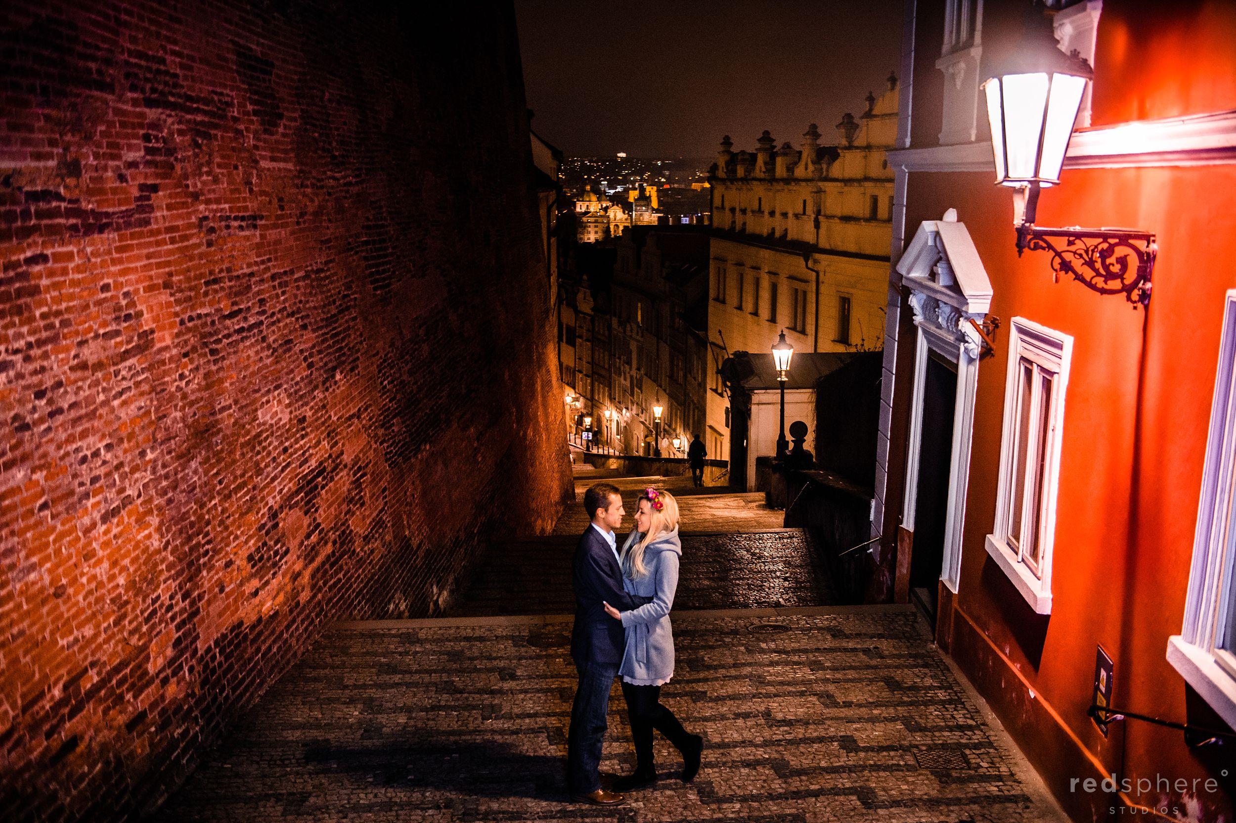 Couple Engagement at Old Town Prague, Czech Republic