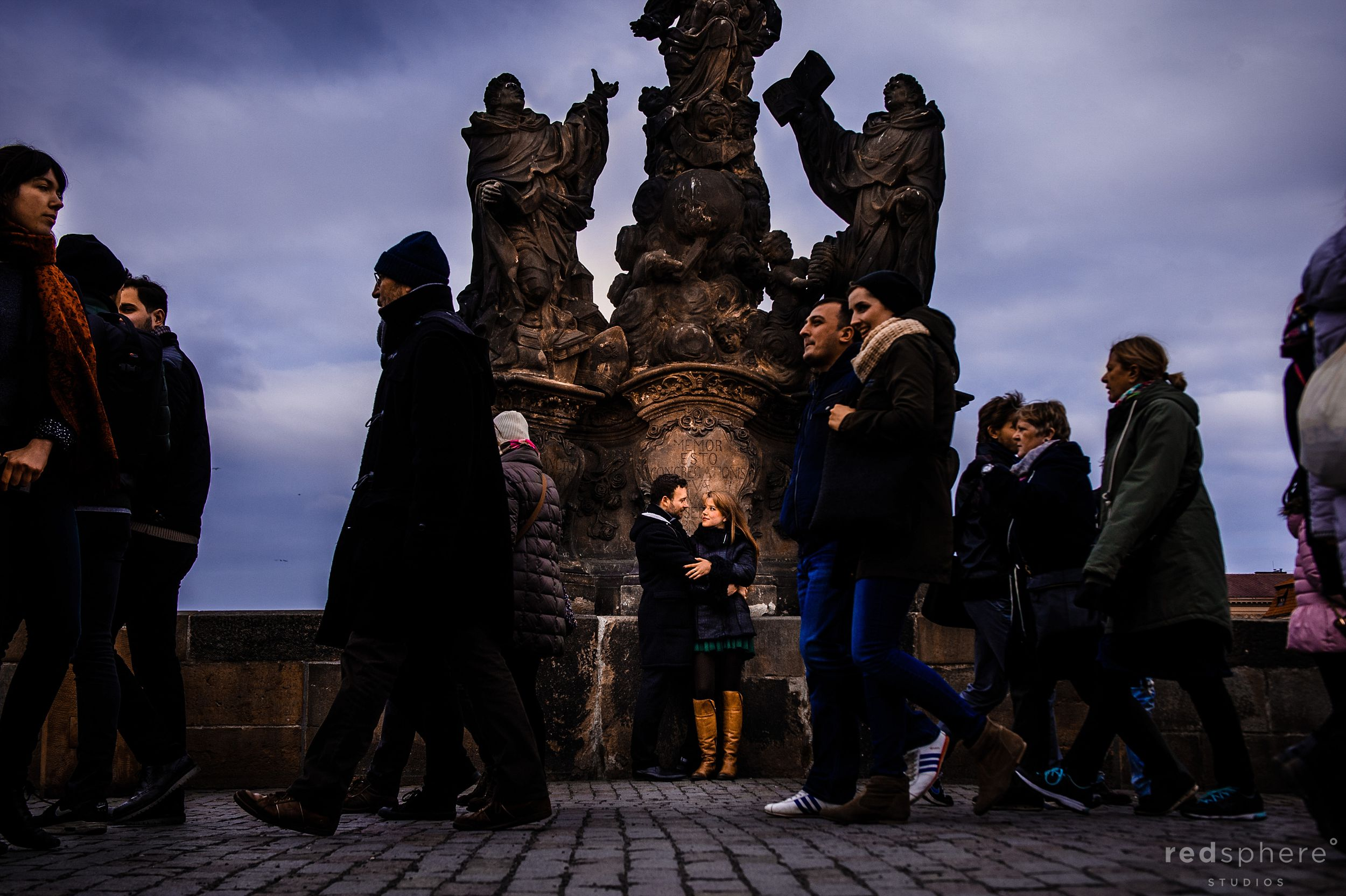 Couple Engagement at Charles Bridge, Prague