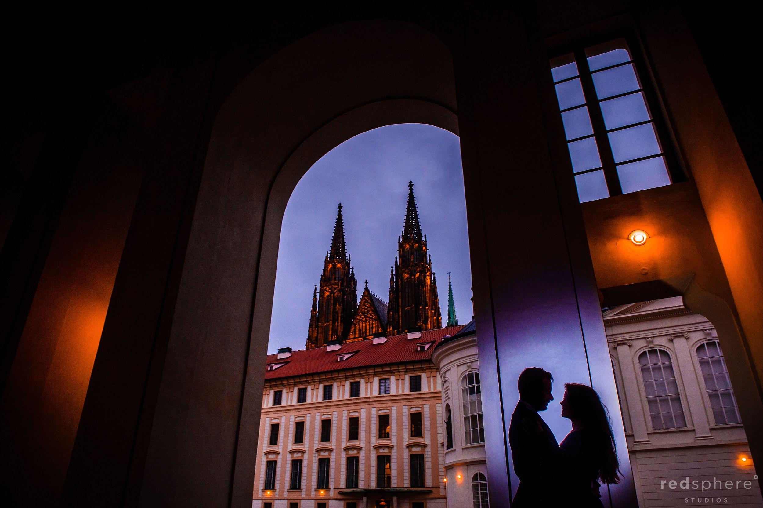 Engagement at Prague Castle, Silhouette