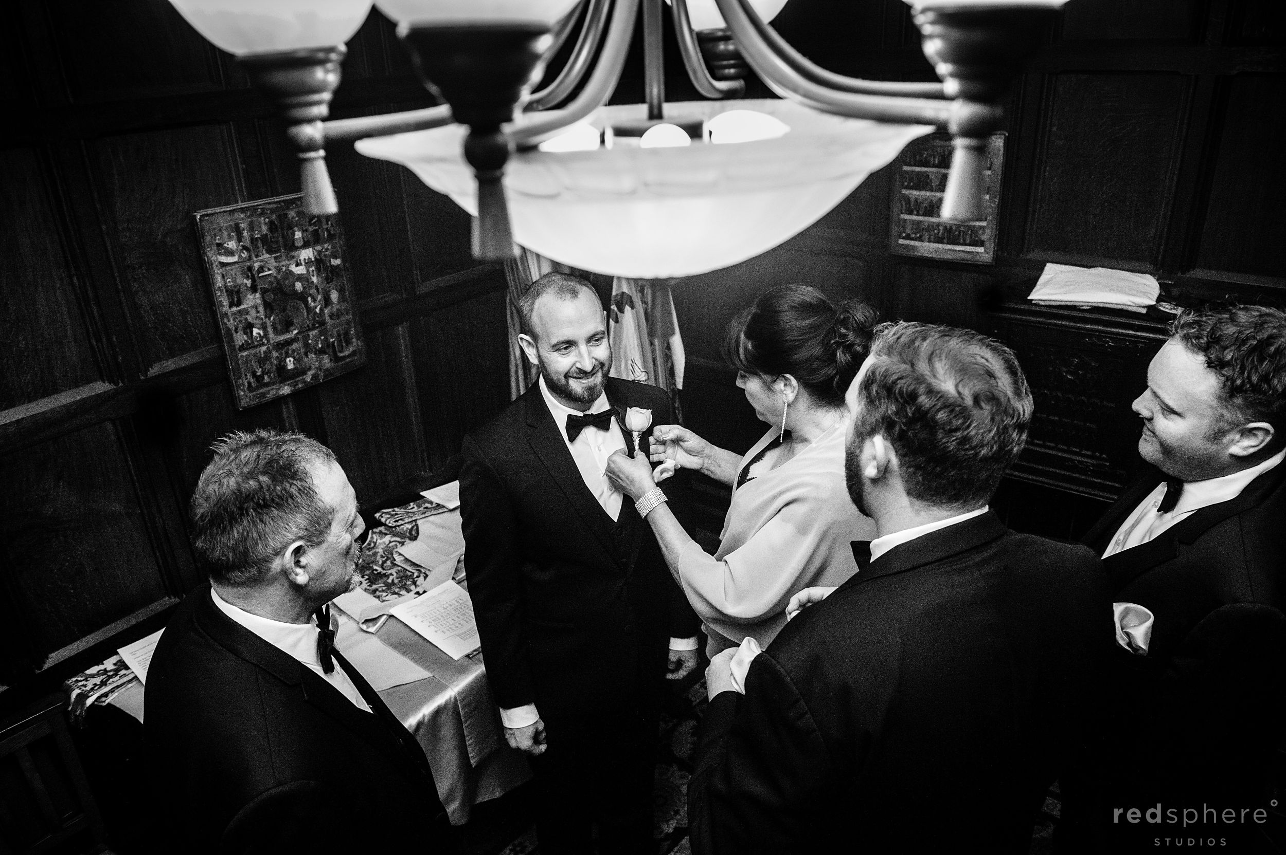 The Groom and Final Touches, Fairmont Hotel San Francisco Wedding