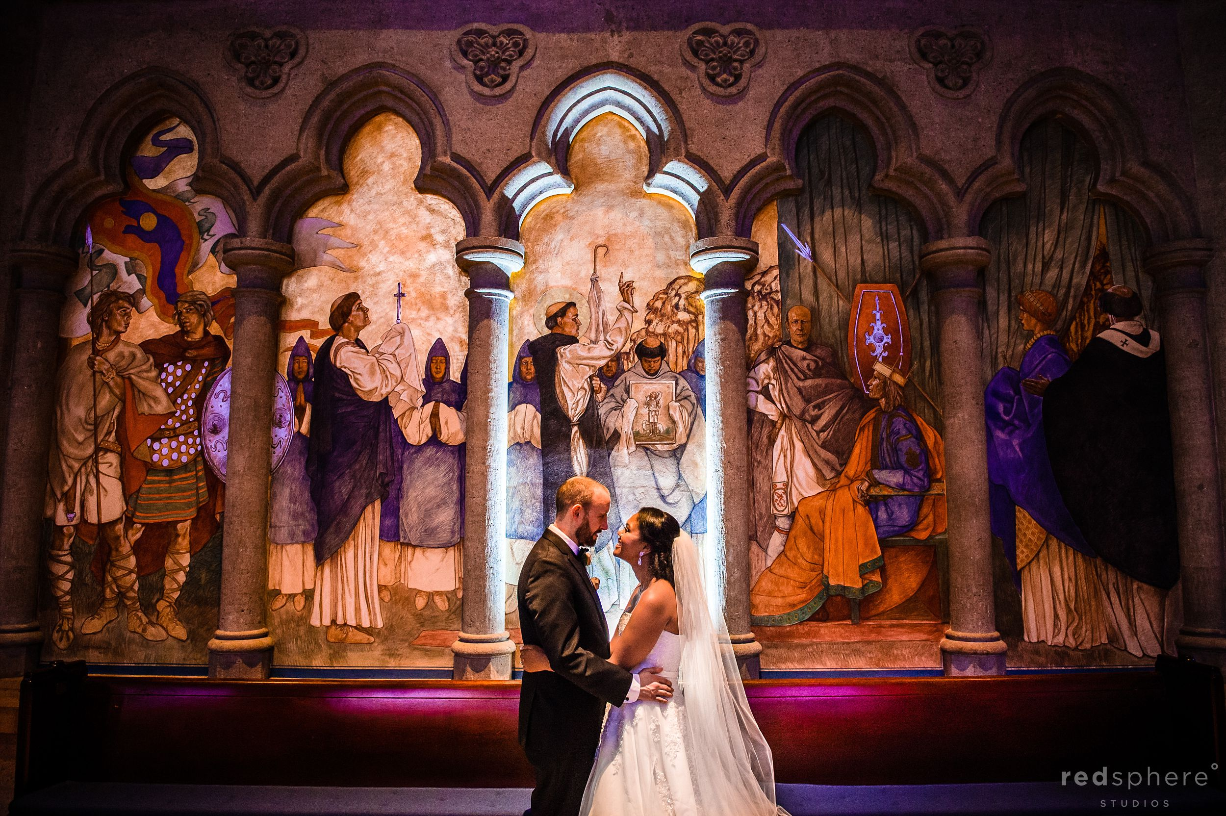 Bride and Groom at Grace Cathedral