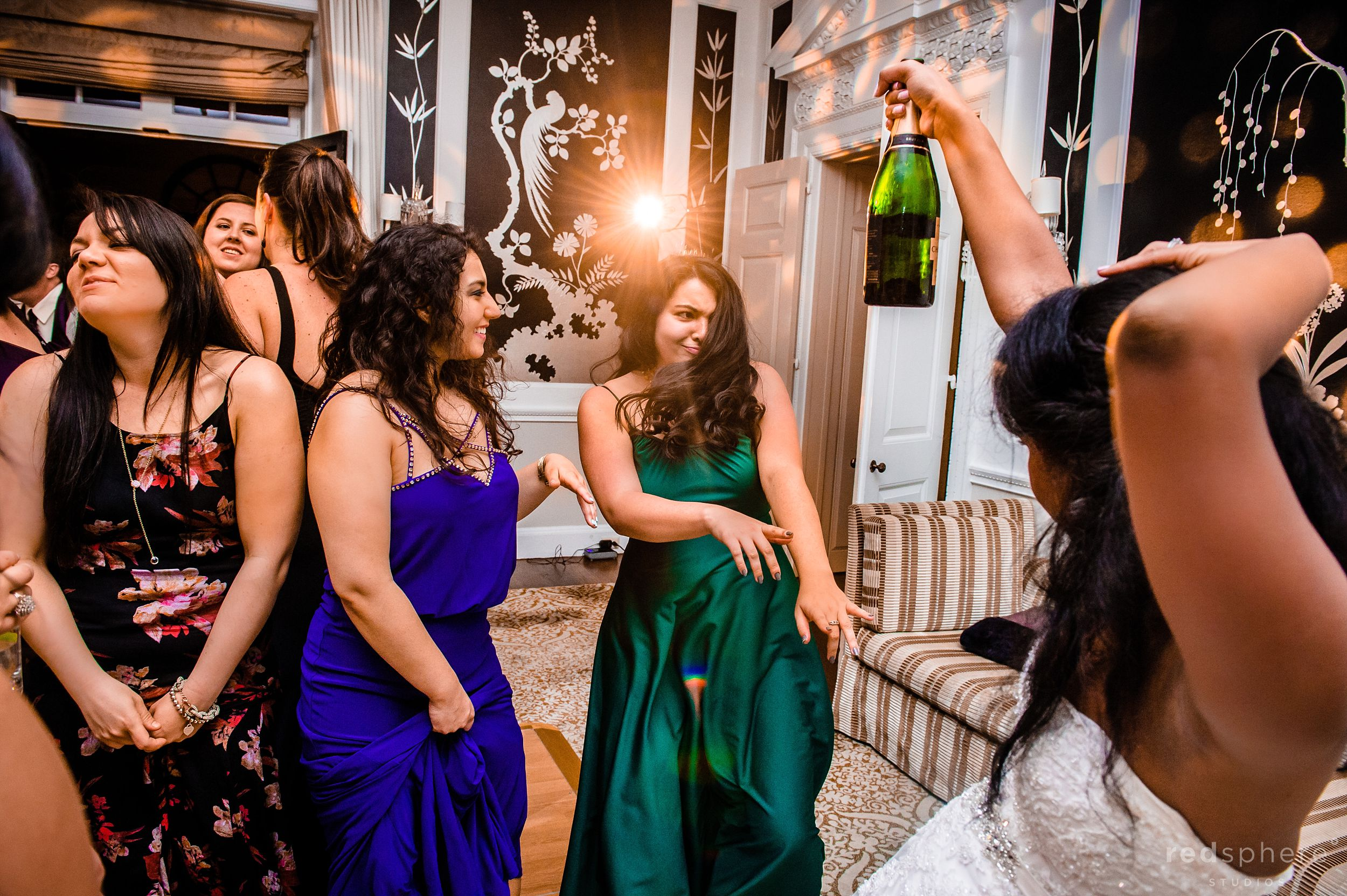 Bride and Her Friends Dancing at Fairmont Hotel Wedding After Party