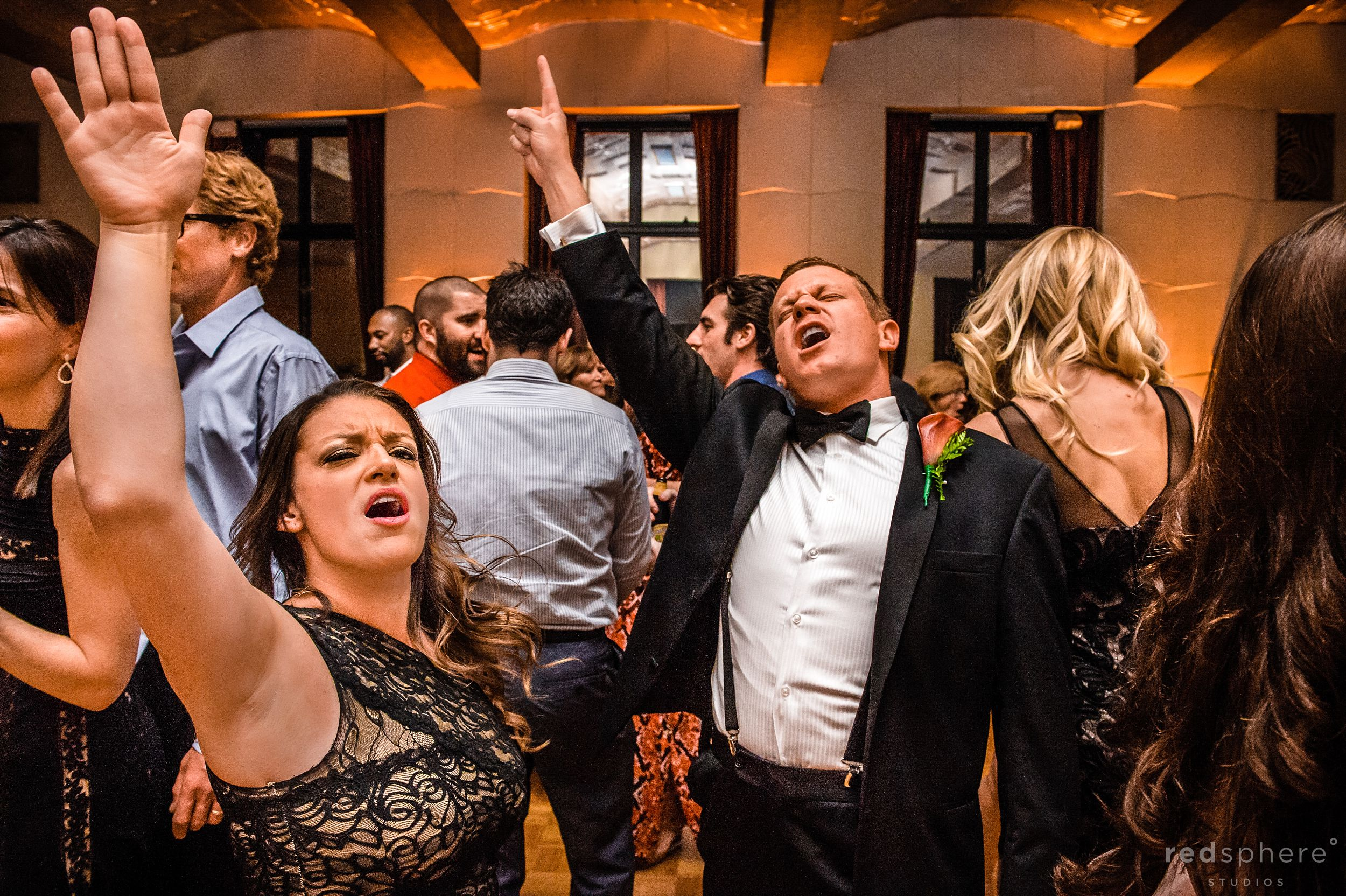 Guests Hitting The Highest Notes While Singing at City Club Wedding After Party