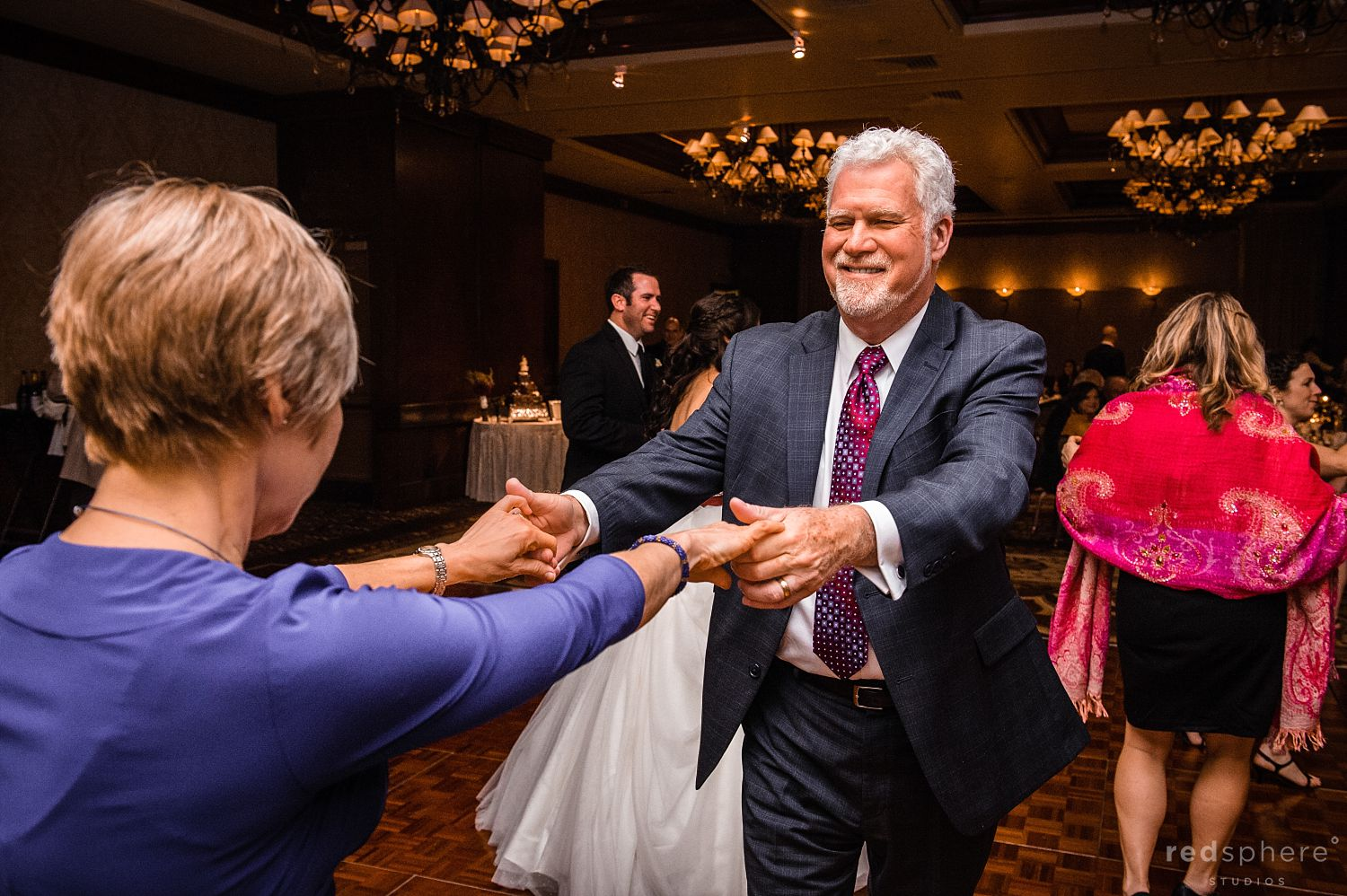 Groom's Parents Dancing at The Inn at Spanish Bay Wedding After Party