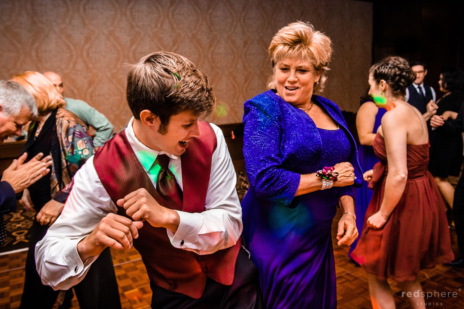 Family Members and Guests Dance to Good Music at The Inn at Spanish Bay Wedding After Party