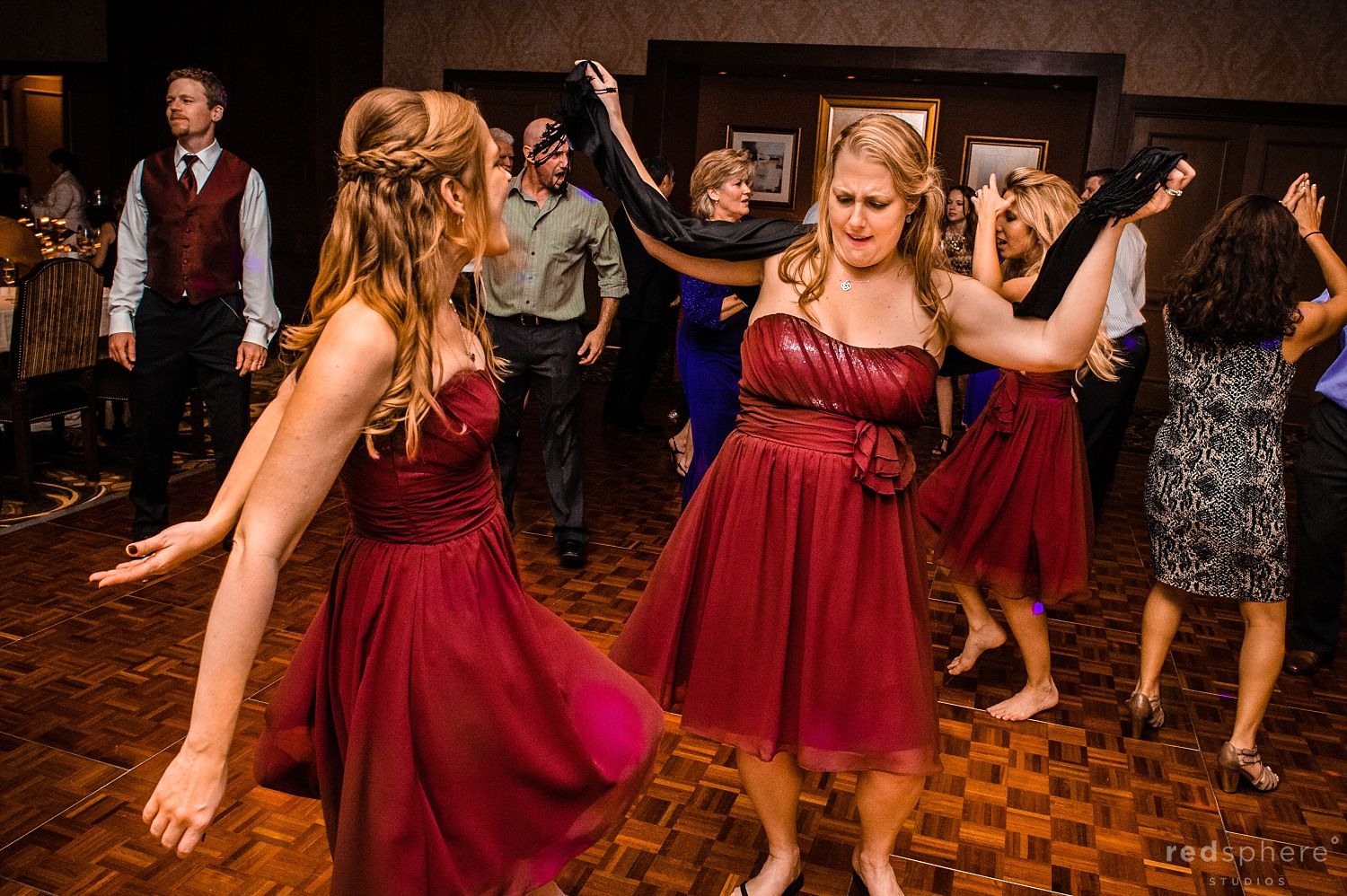 Bridesmaids' Dance After Pebble Beach Wedding Ceremony
