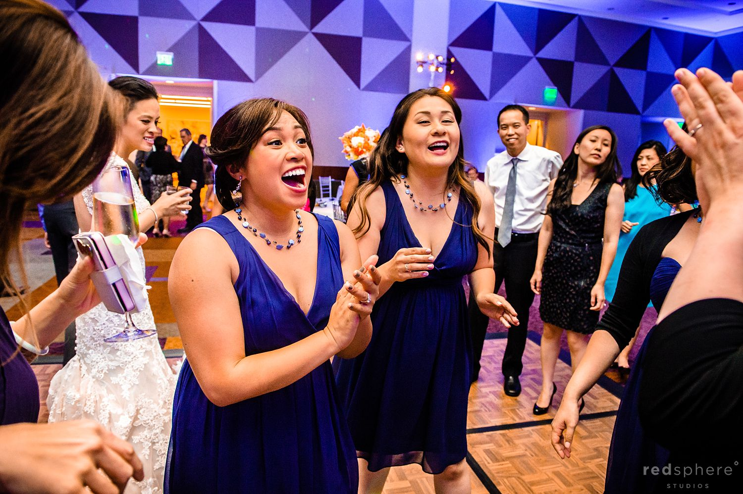 Bridesmaids' Sing and Clap at Intercontinental Hotel Wedding After Party