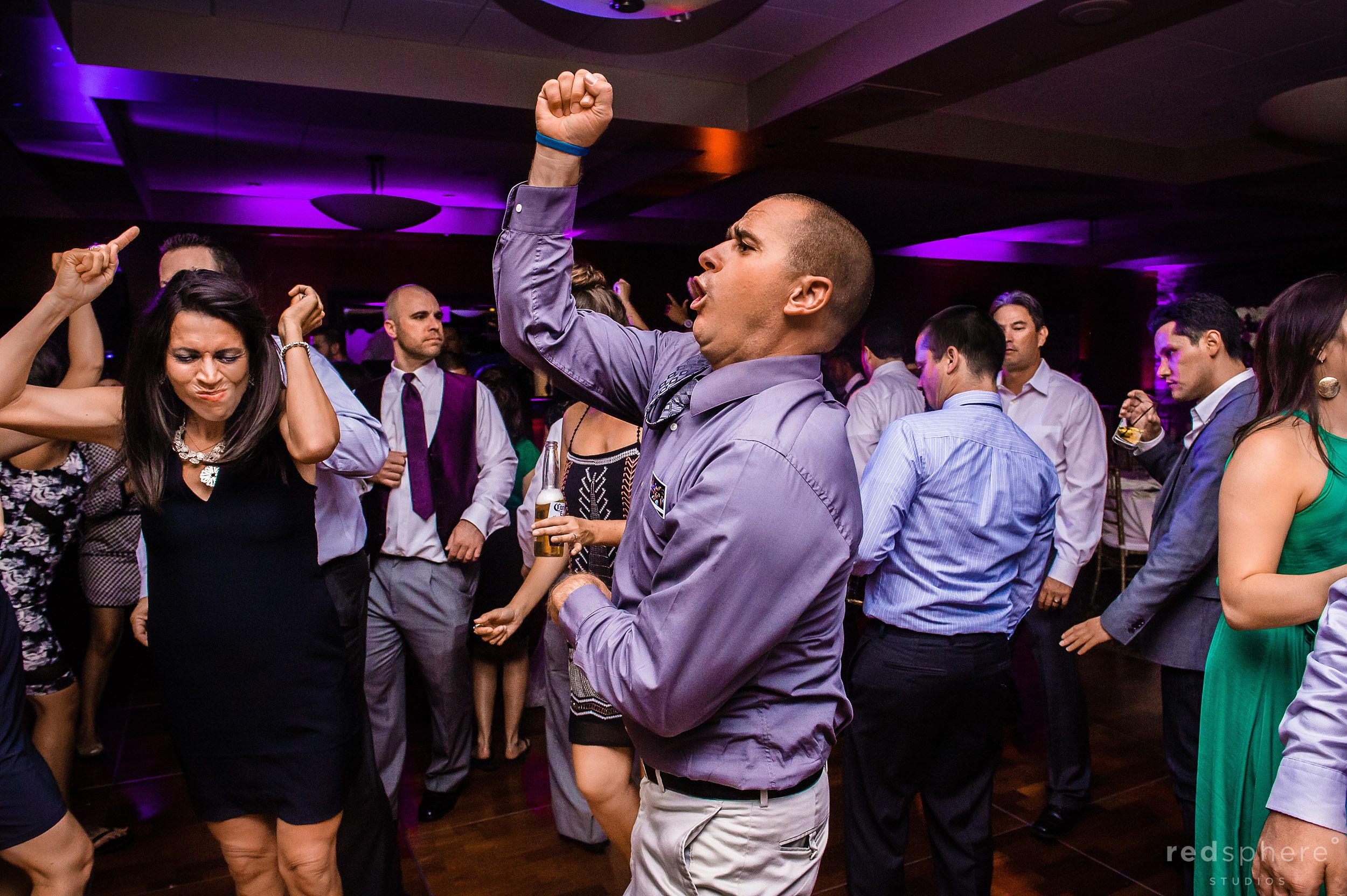 Groomsmen Dances at Wedding Reception, Palo Alto Hills Golf Club