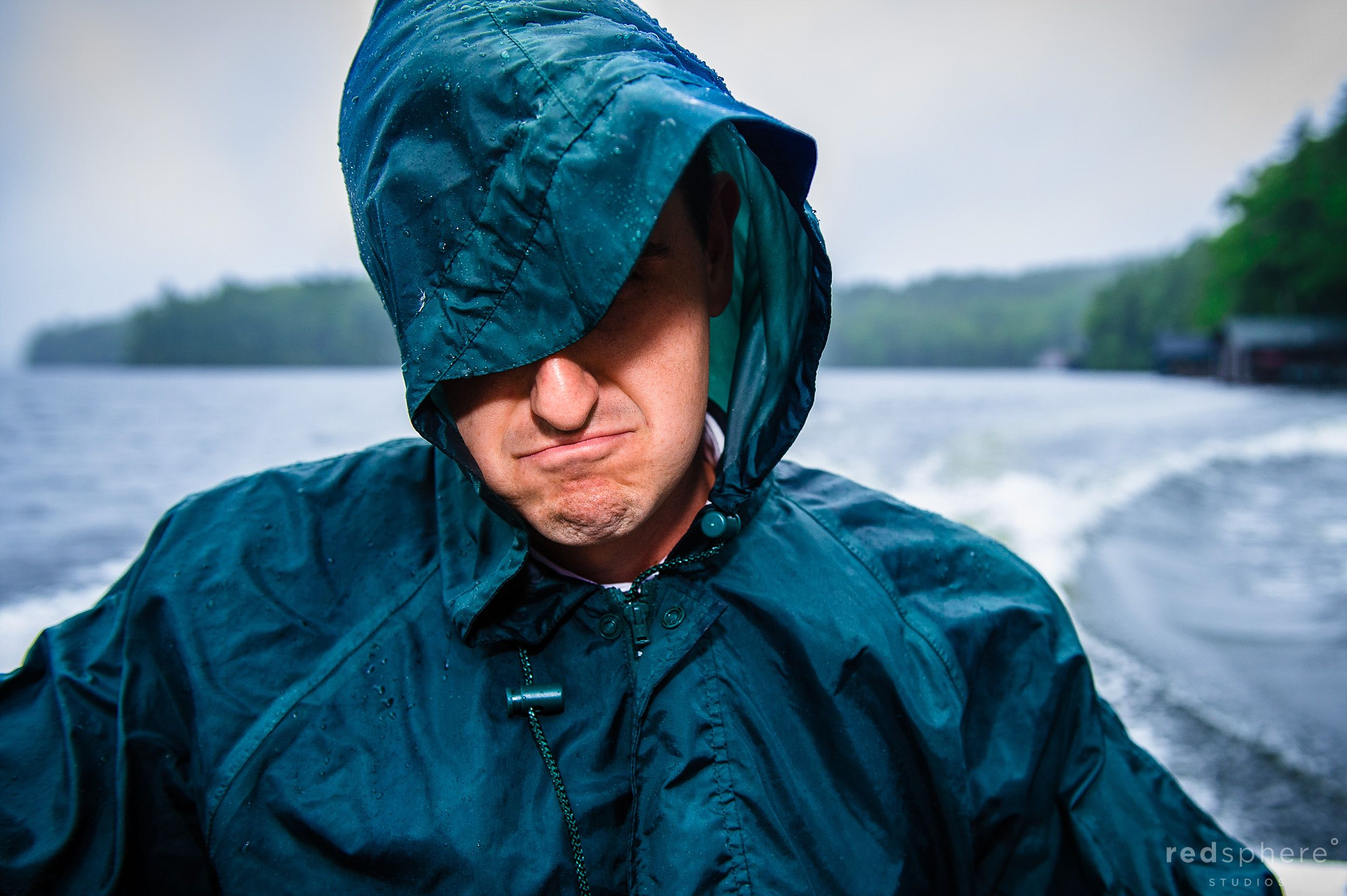 Rainy Boat Rides at Saranac Lake, New York