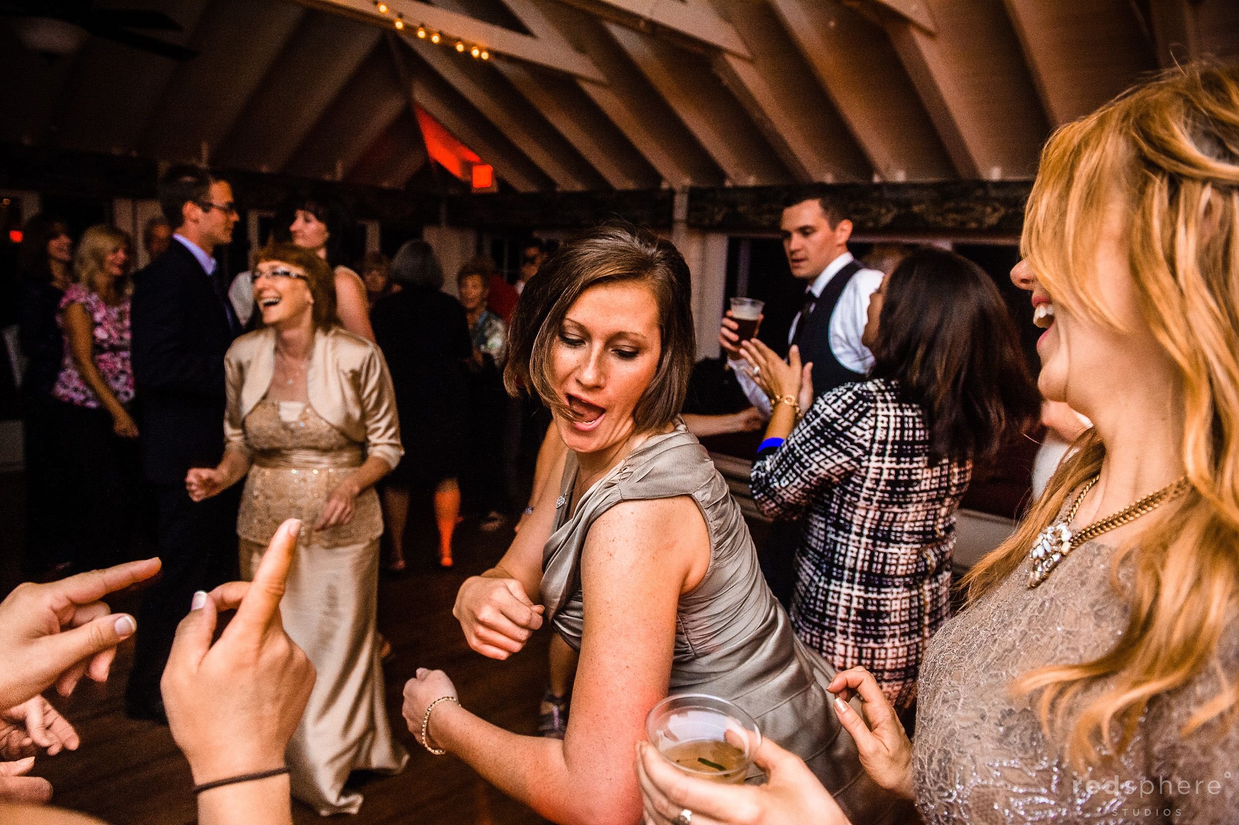 Guests Having fun at Chapel Island Wedding Reception