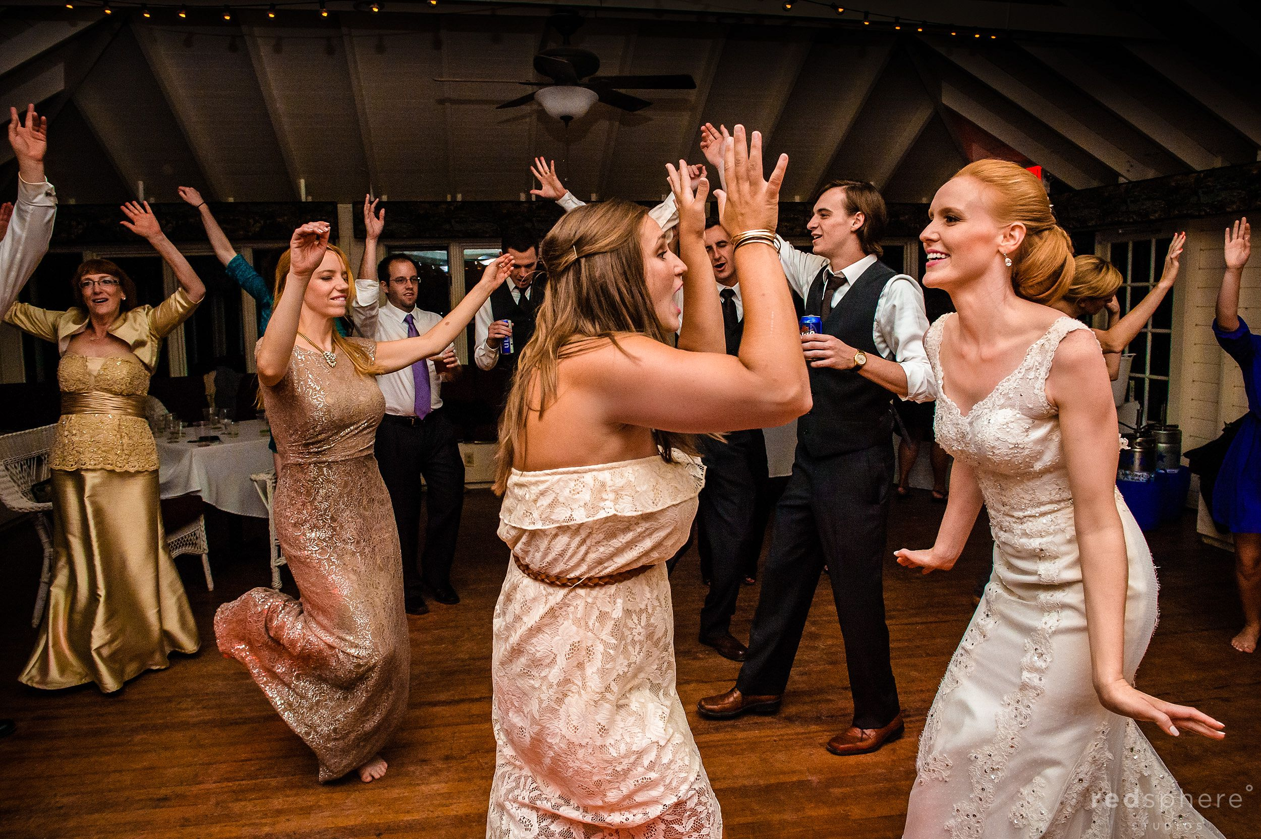 Bride Along With Guests hit the Dance Floor at Wedding After Party