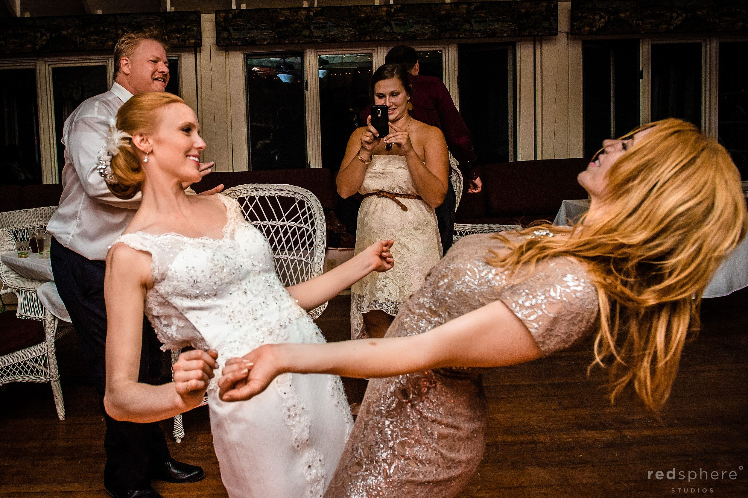 Bride and Maid of Honor Both Get Down on the Dance Floor