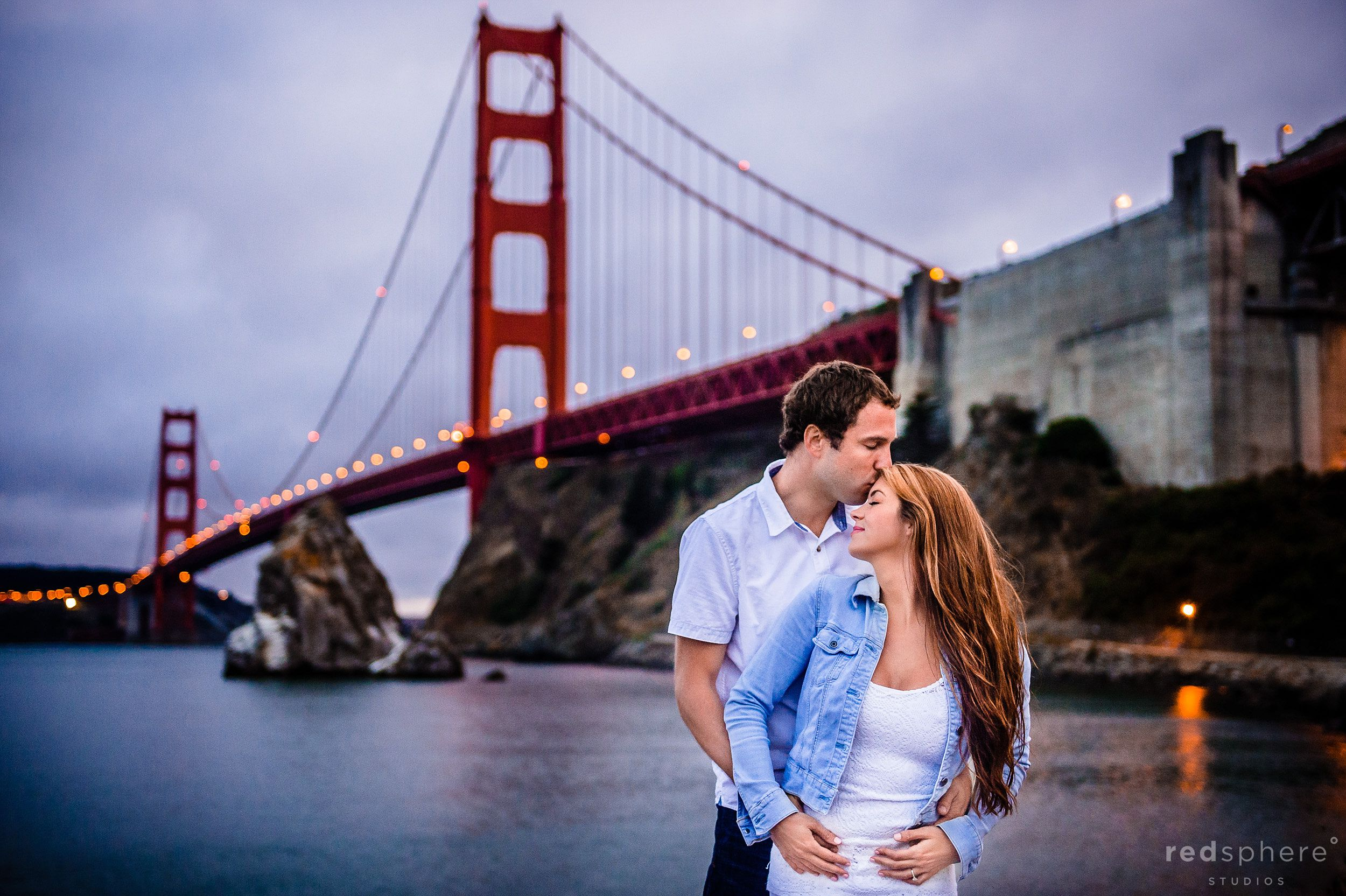 Couple Affection at Baker Beach San Francisco Engagement