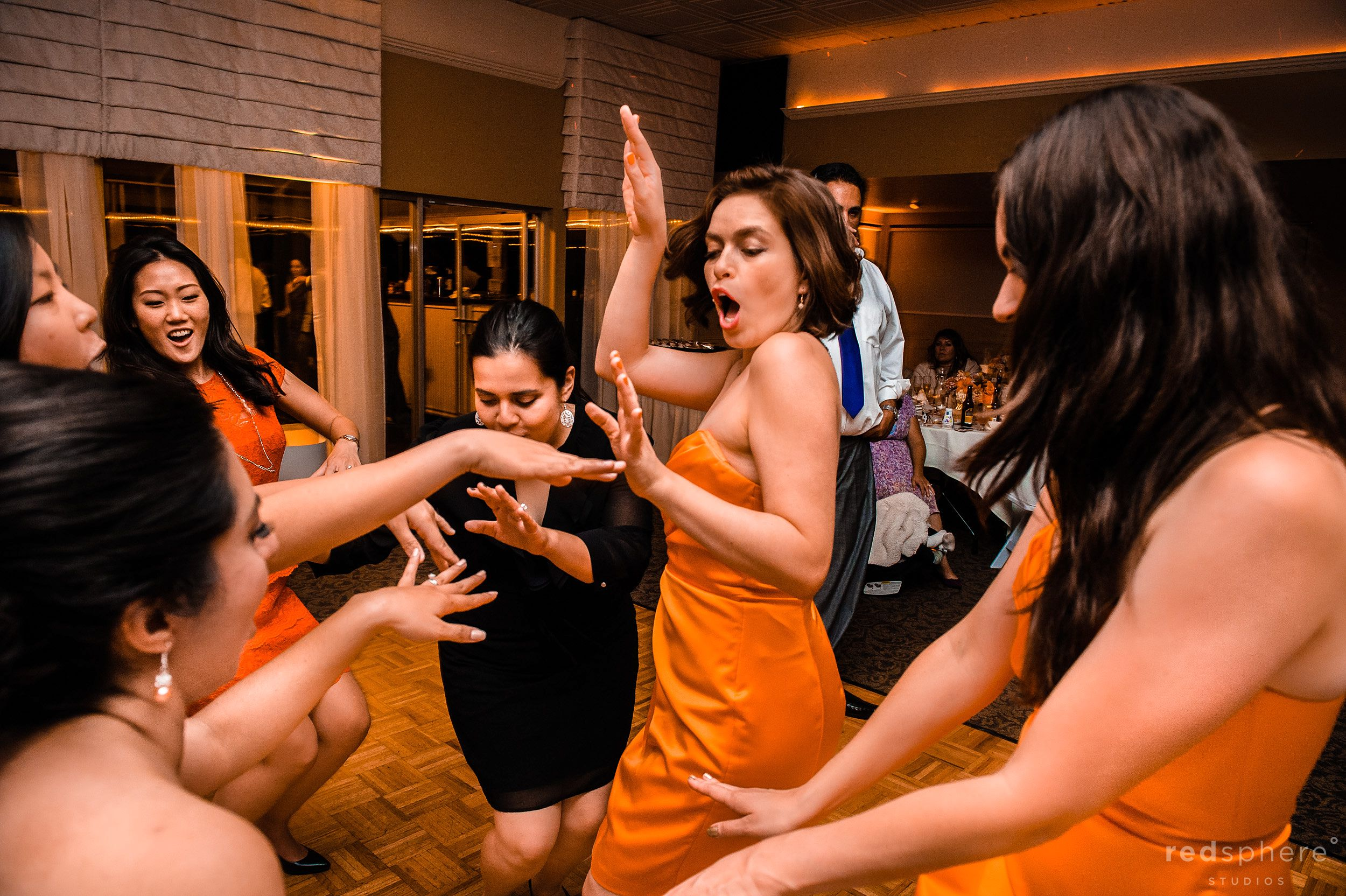 Bridesmaids' Dance Together at Crystal Springs Golf Course, Burlingame