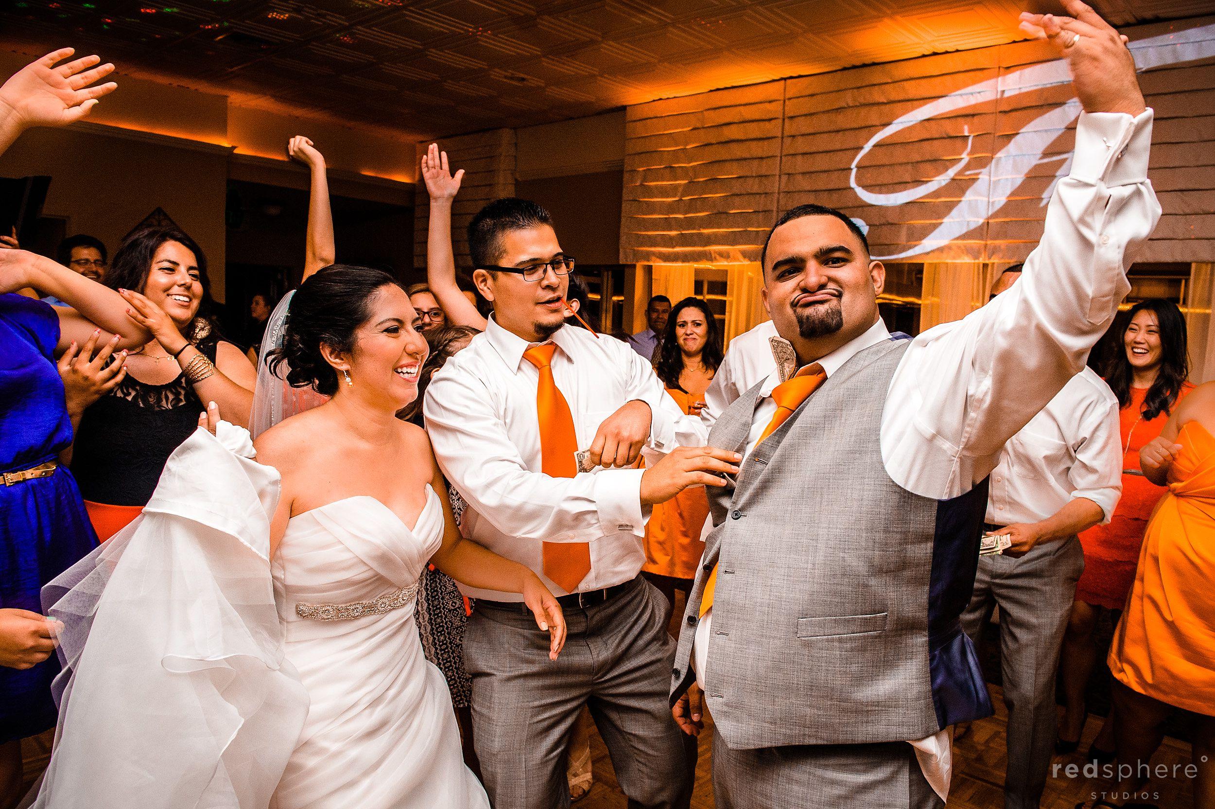 Groom, Bride , Groomsman at Burlingame Wedding Reception